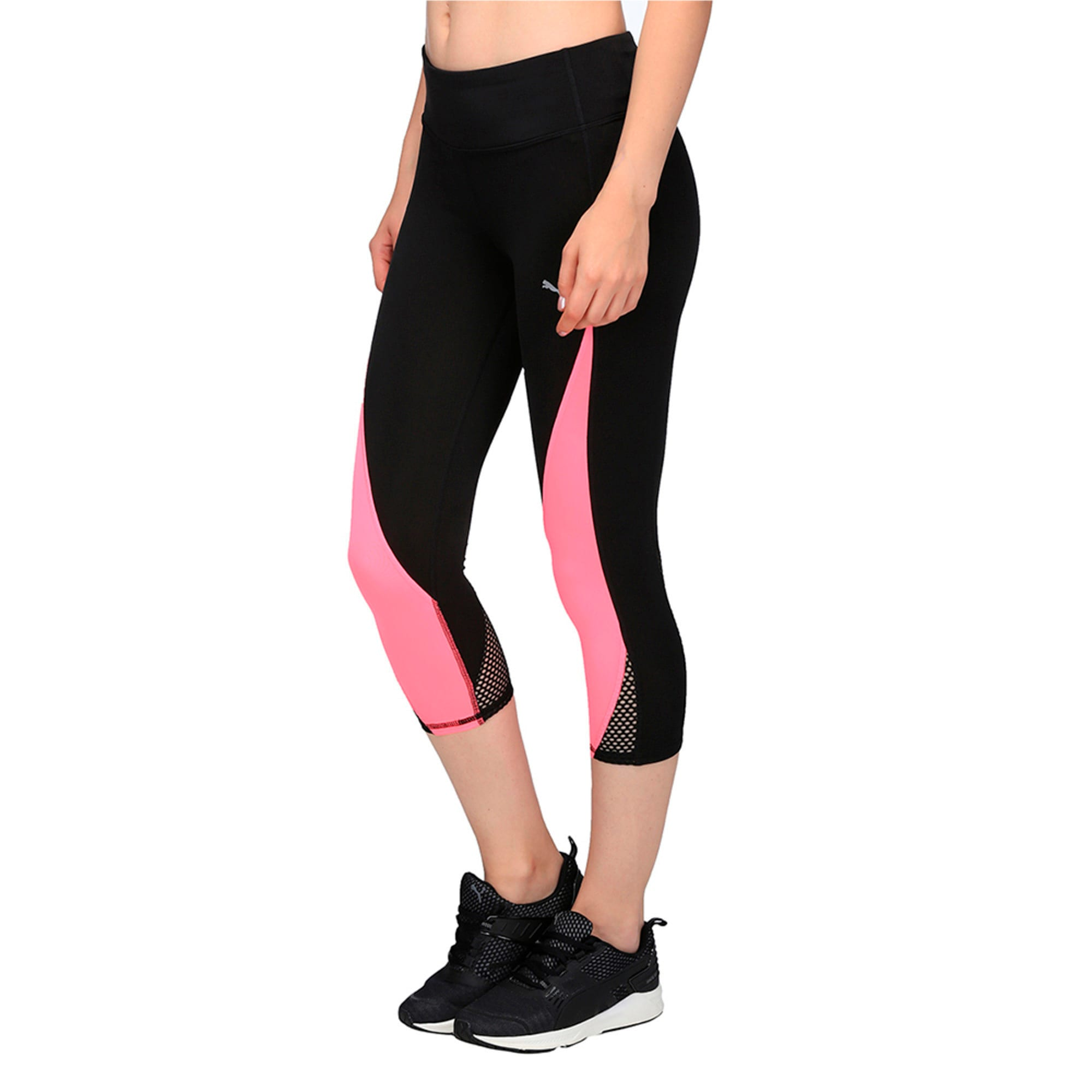 Thumbnail 3 of Active Training Women's Explosive 3/4 Tights, Puma Black-KNOCKOUT PINK, medium-IND