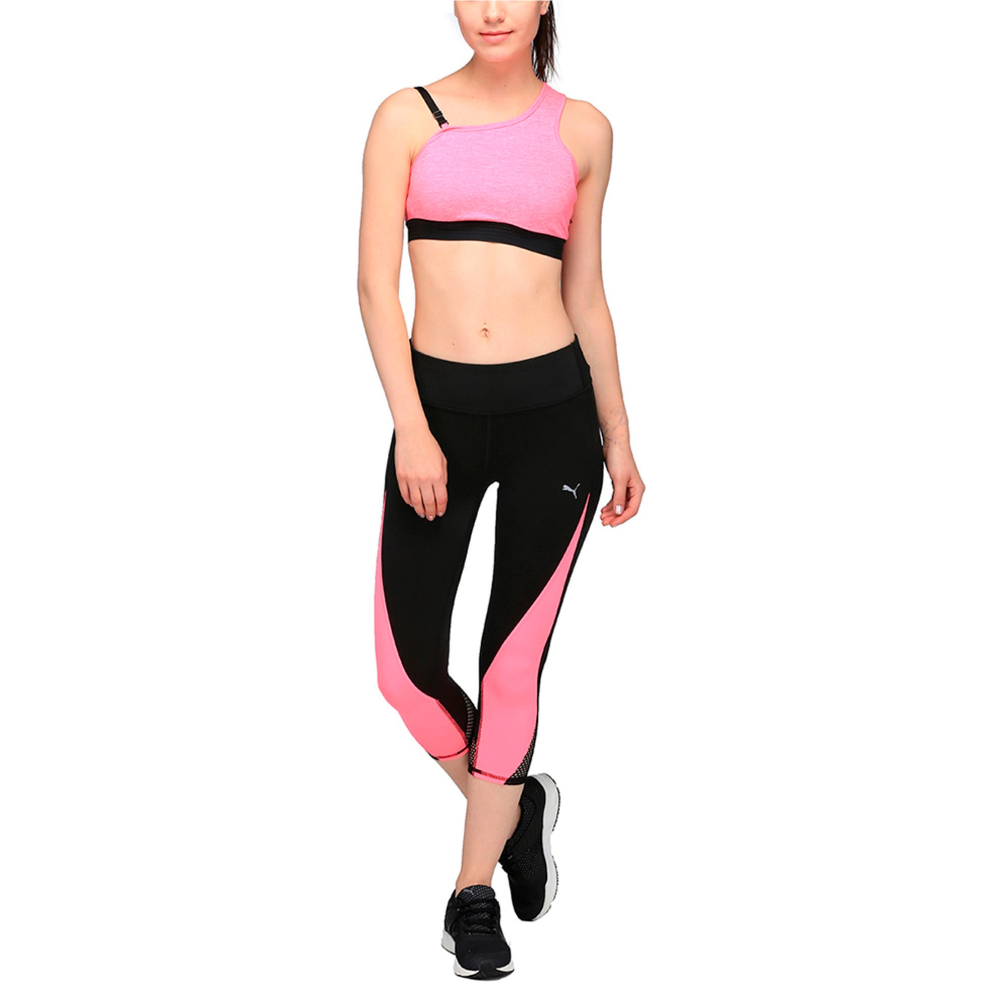 Thumbnail 4 of Active Training Women's Explosive 3/4 Tights, Puma Black-KNOCKOUT PINK, medium-IND