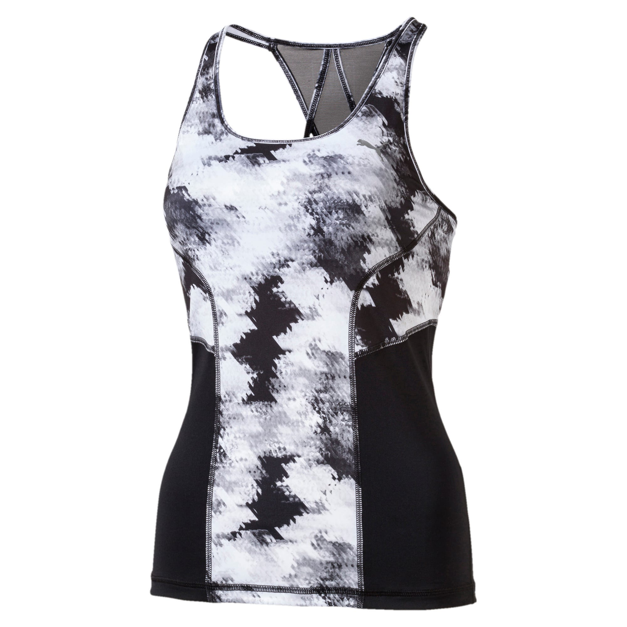 Thumbnail 1 of Active Training Women's All Eyes On Me Tank Top, black-wht explosion pt, medium-IND