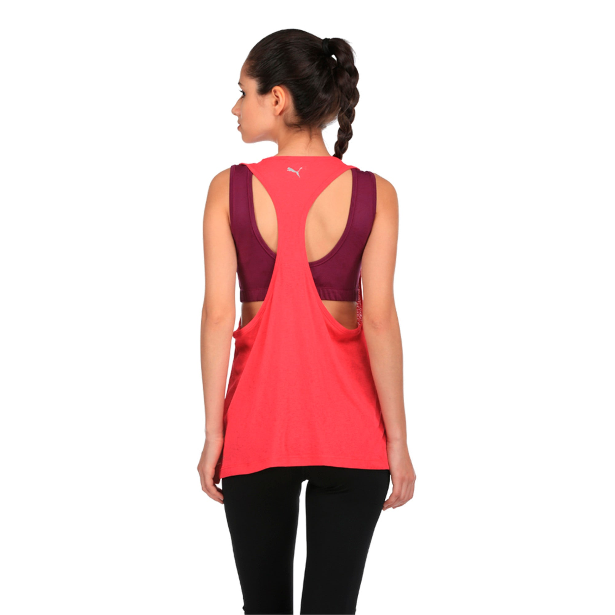 Thumbnail 5 of Active Training Women's Layer Tank Top, Love Potion-Oxidized prt, medium-IND