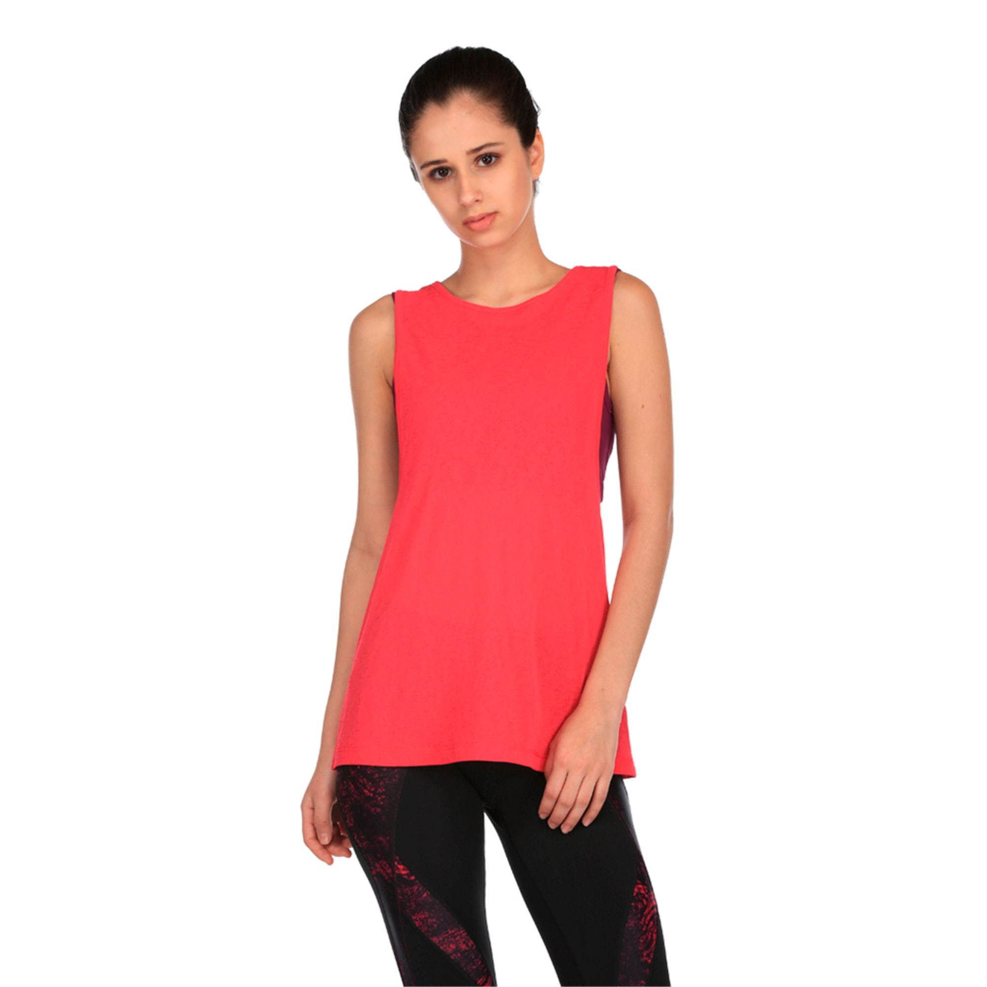 Thumbnail 1 of Active Training Women's Layer Tank Top, Love Potion-Oxidized prt, medium-IND