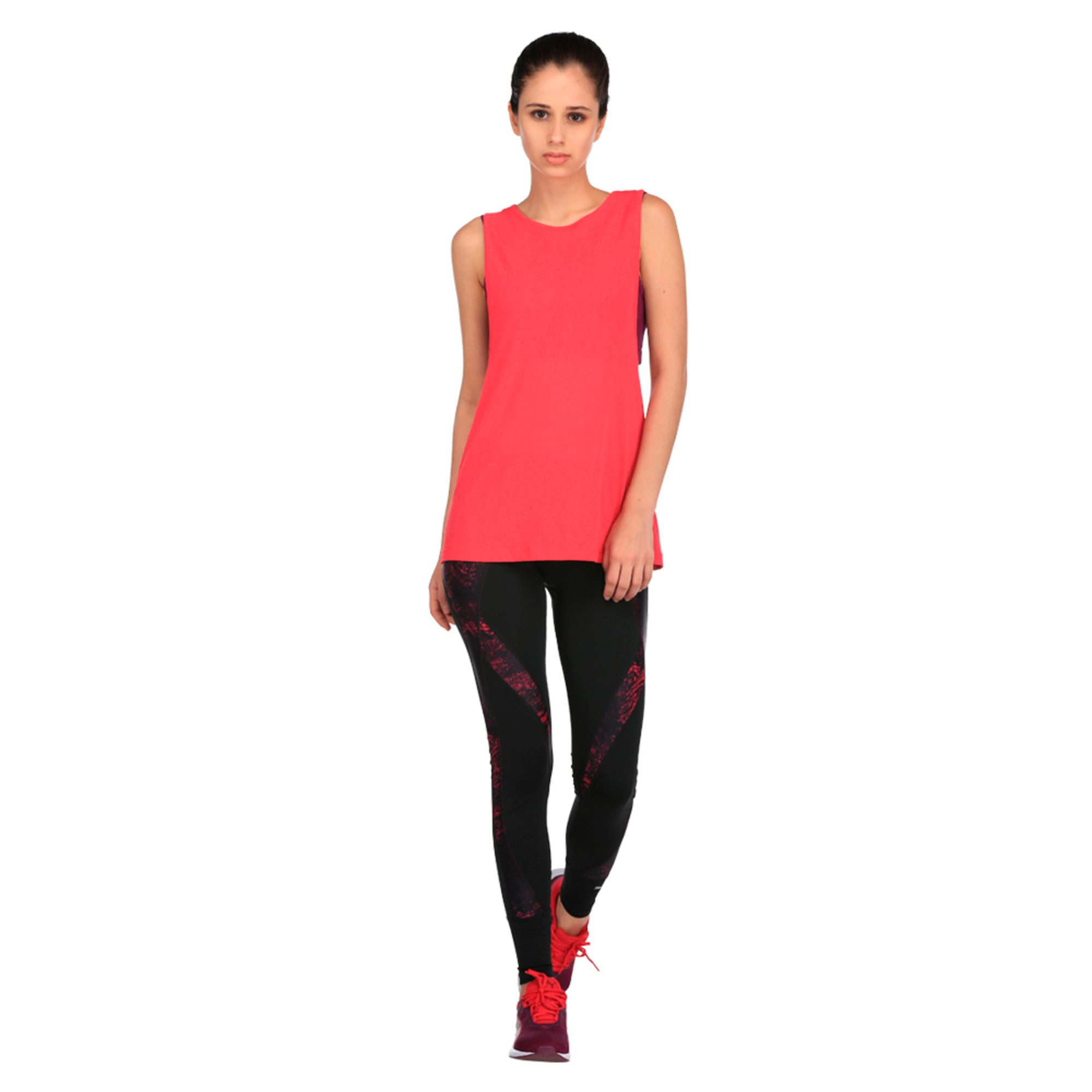 Thumbnail 3 of Active Training Women's Layer Tank Top, Love Potion-Oxidized prt, medium-IND