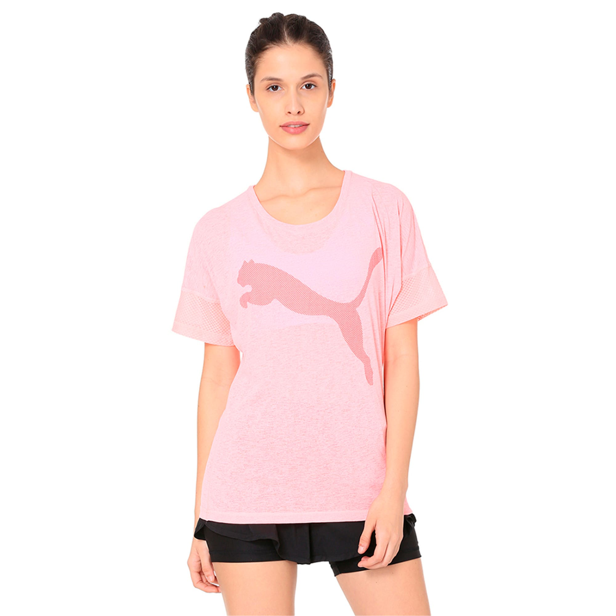 Thumbnail 2 of Active Training Women's Loose T-Shirt, Soft Fluo Peach, medium-IND