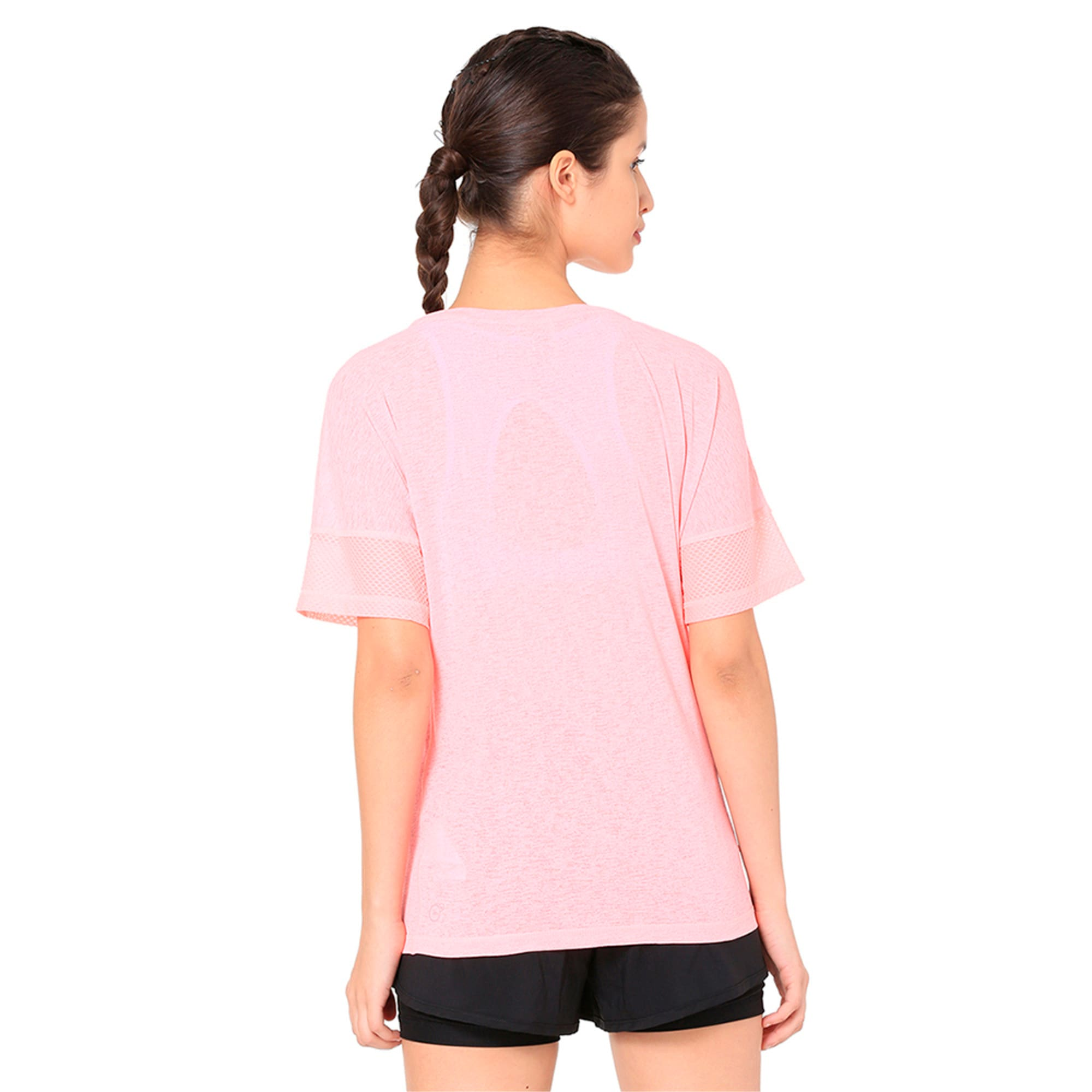 Thumbnail 3 of Active Training Women's Loose T-Shirt, Soft Fluo Peach, medium-IND