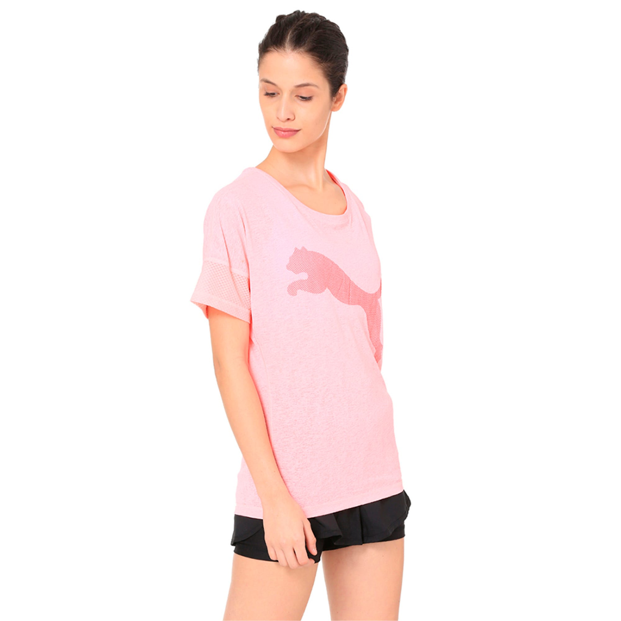 Thumbnail 5 of Active Training Women's Loose T-Shirt, Soft Fluo Peach, medium-IND