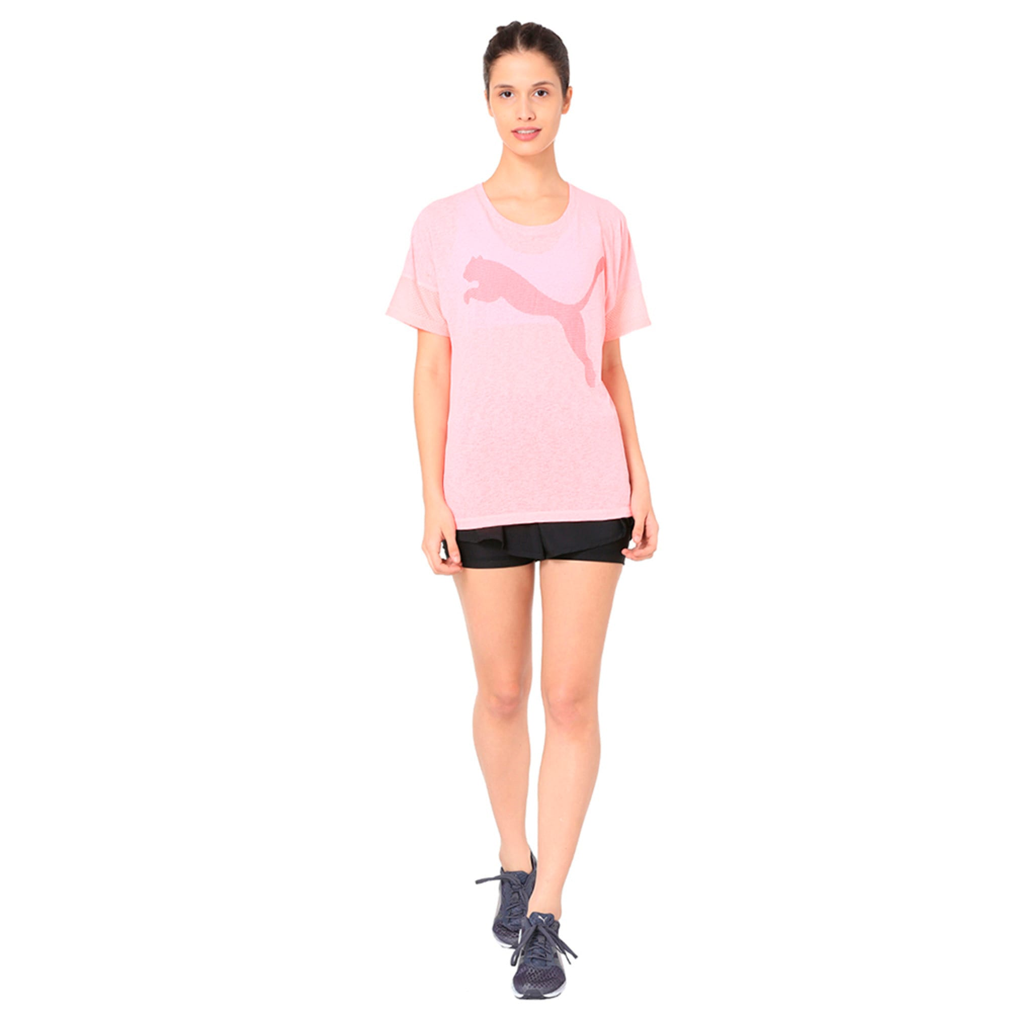 Thumbnail 6 of Active Training Women's Loose T-Shirt, Soft Fluo Peach, medium-IND