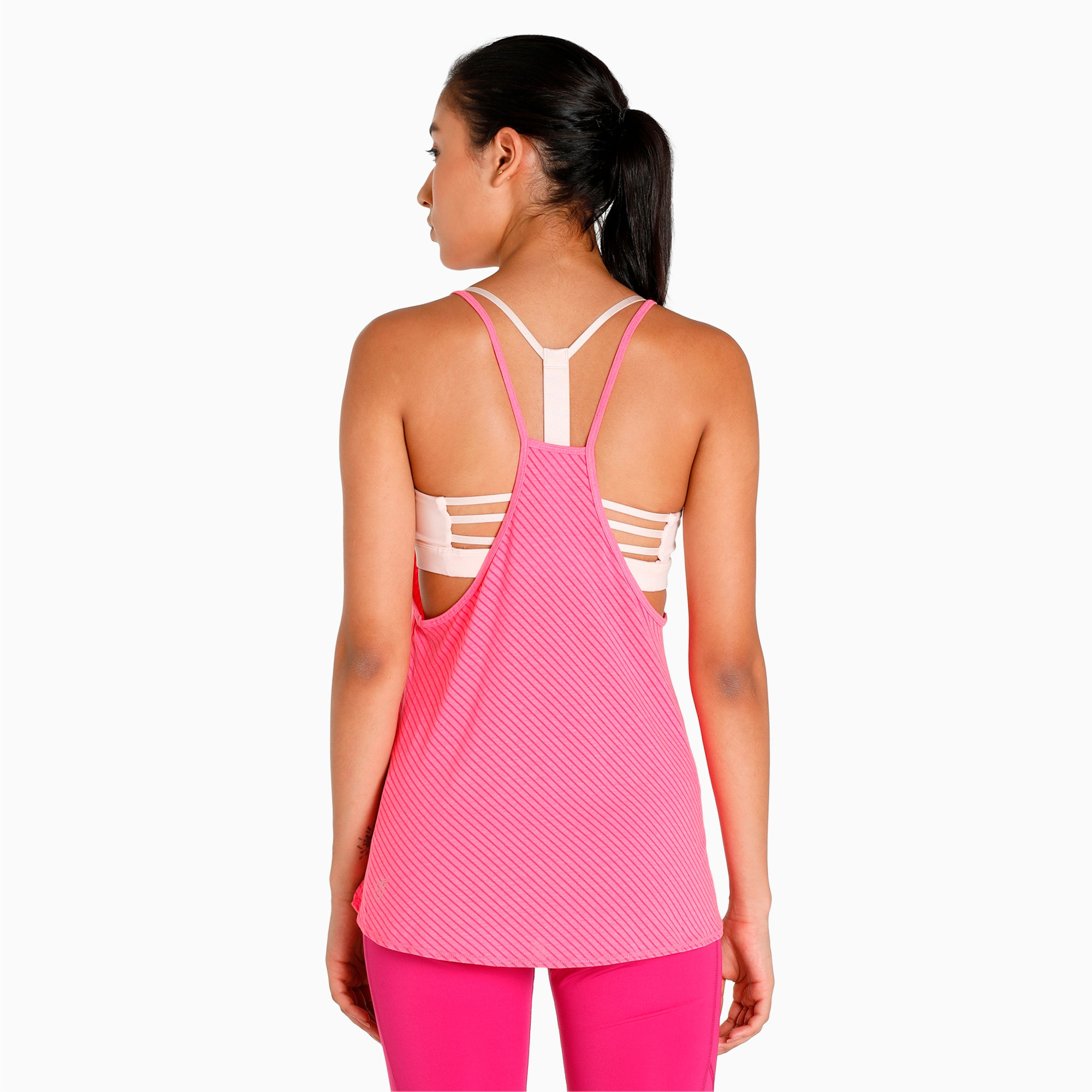 Thumbnail 5 of Active Training Women's Dancer Draped Tank Top, knockout pink heather-stripe, medium-IND