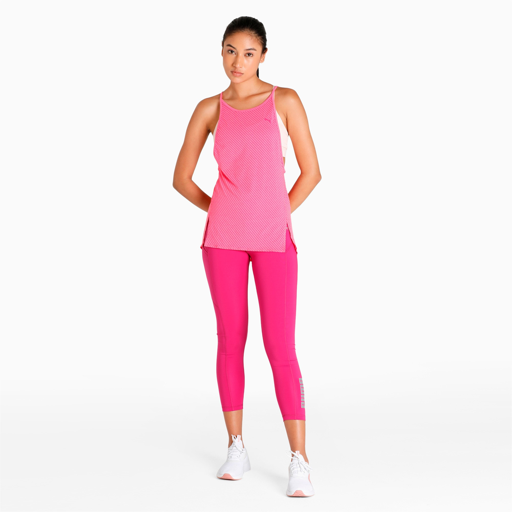 Thumbnail 1 of Active Training Women's Dancer Draped Tank Top, knockout pink heather-stripe, medium-IND