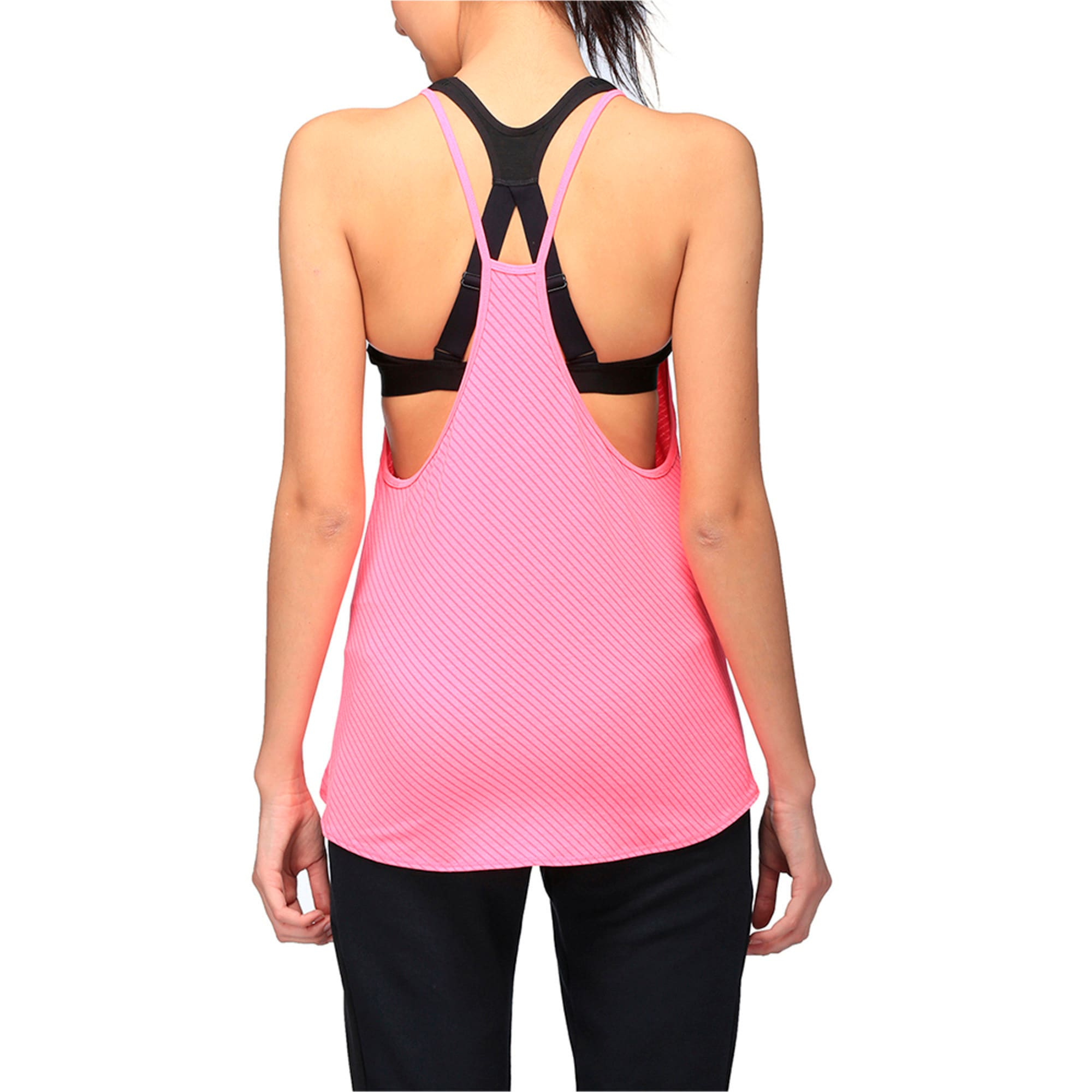 Thumbnail 2 of Active Training Women's Dancer Draped Tank Top, knockout pink heather-stripe, medium-IND