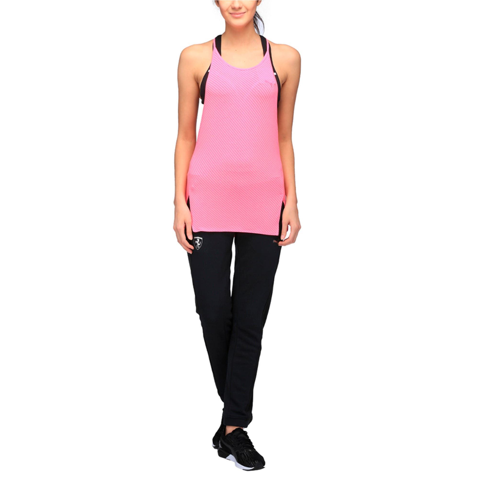 Thumbnail 3 of Active Training Women's Dancer Draped Tank Top, knockout pink heather-stripe, medium-IND