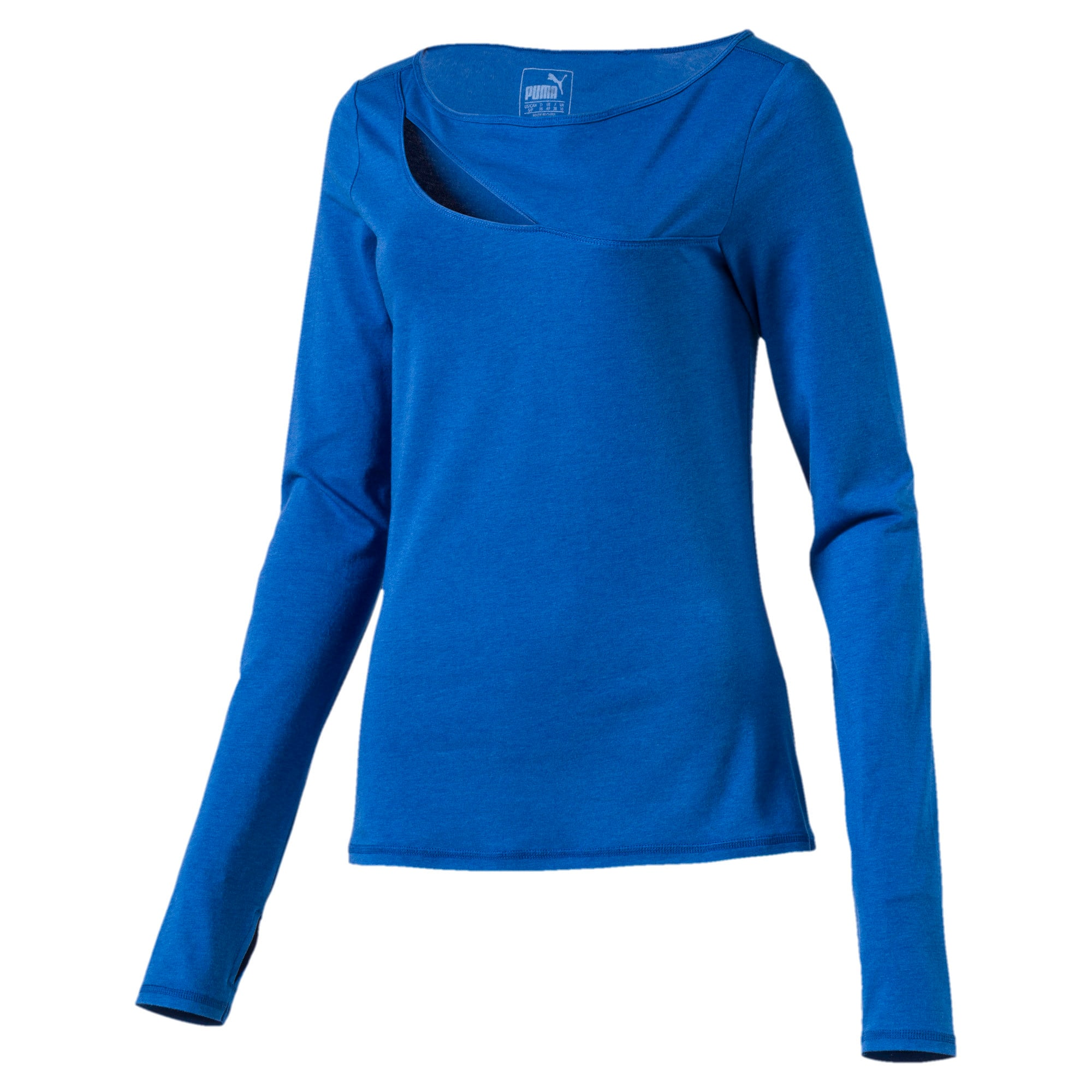 Thumbnail 3 of Dancy Airy L S Cover-up, TRUE BLUE Heather, medium-IND
