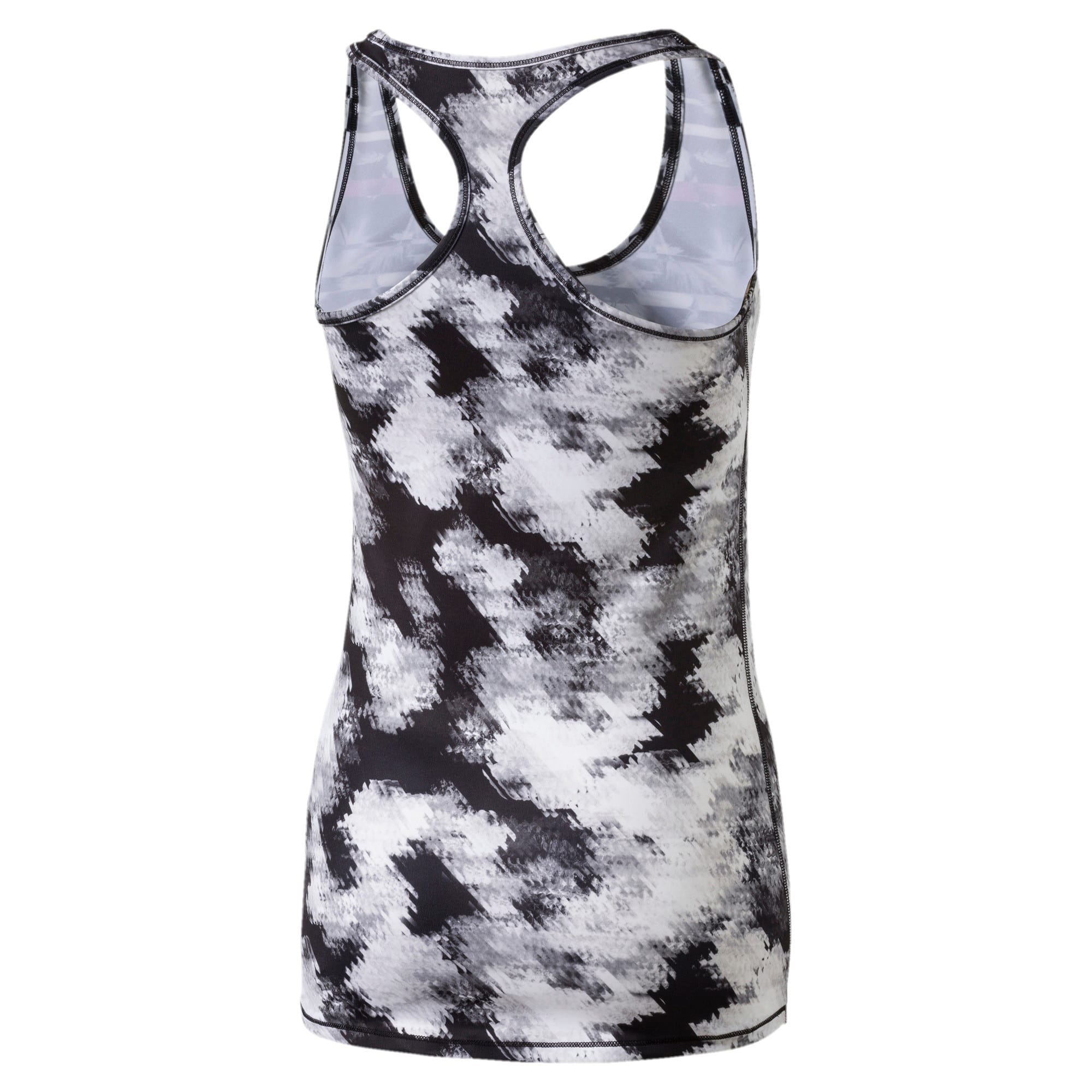 Thumbnail 4 of Training Women's Essential Layer Graphic Tank Top, puma black-white explosv pt, medium-IND