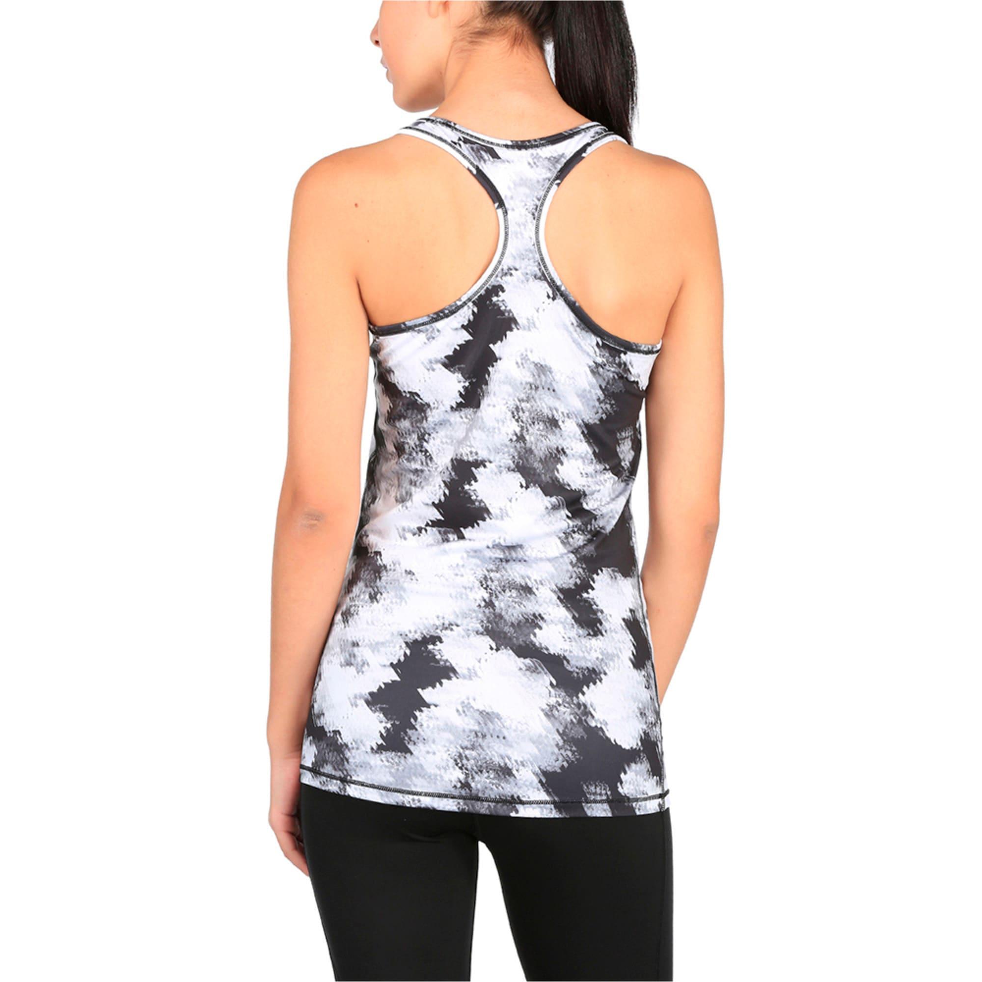Thumbnail 1 of Training Women's Essential Layer Graphic Tank Top, puma black-white explosv pt, medium-IND
