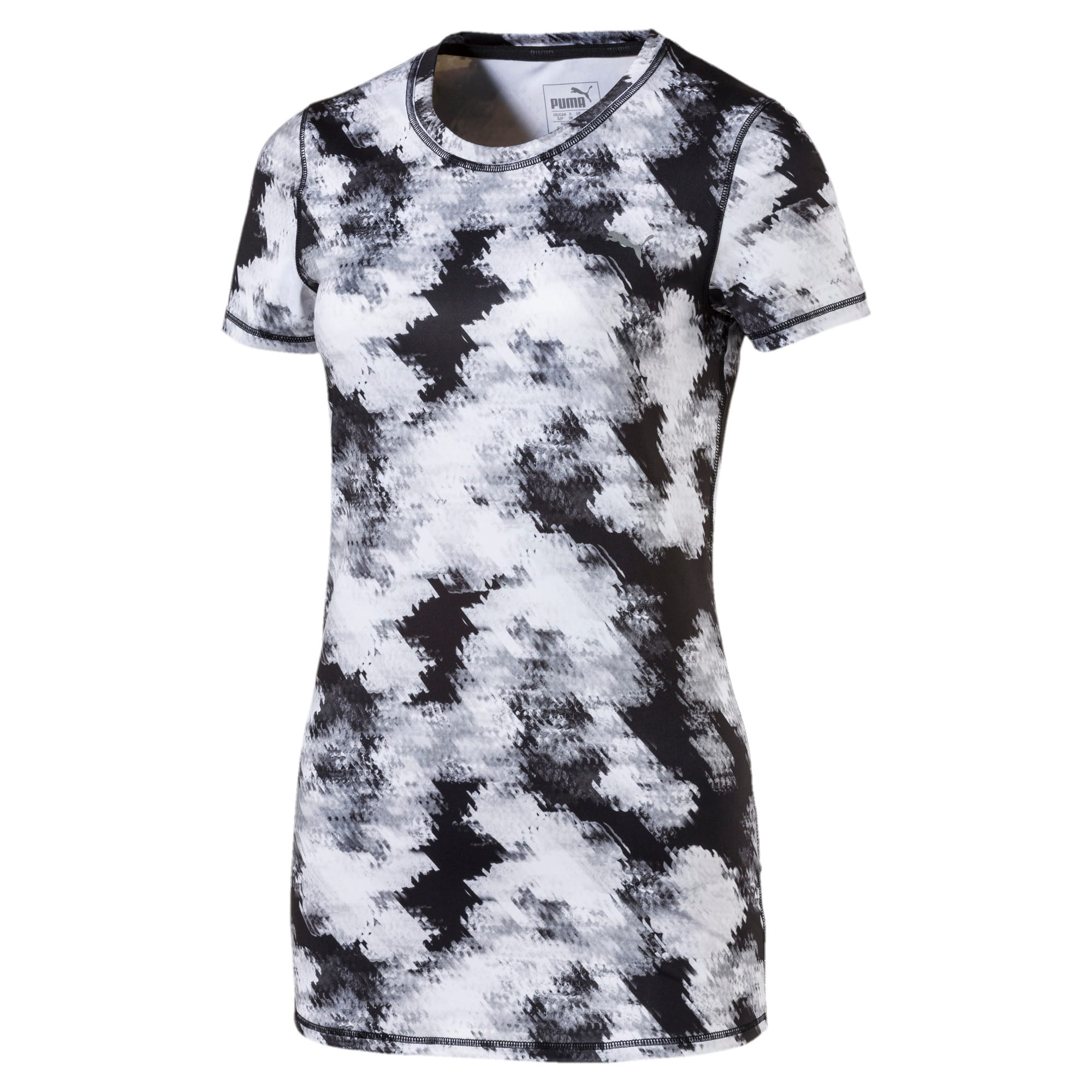 Thumbnail 4 of Training Women's Essential Graphic T-Shirt, black-white explosive print, medium-IND