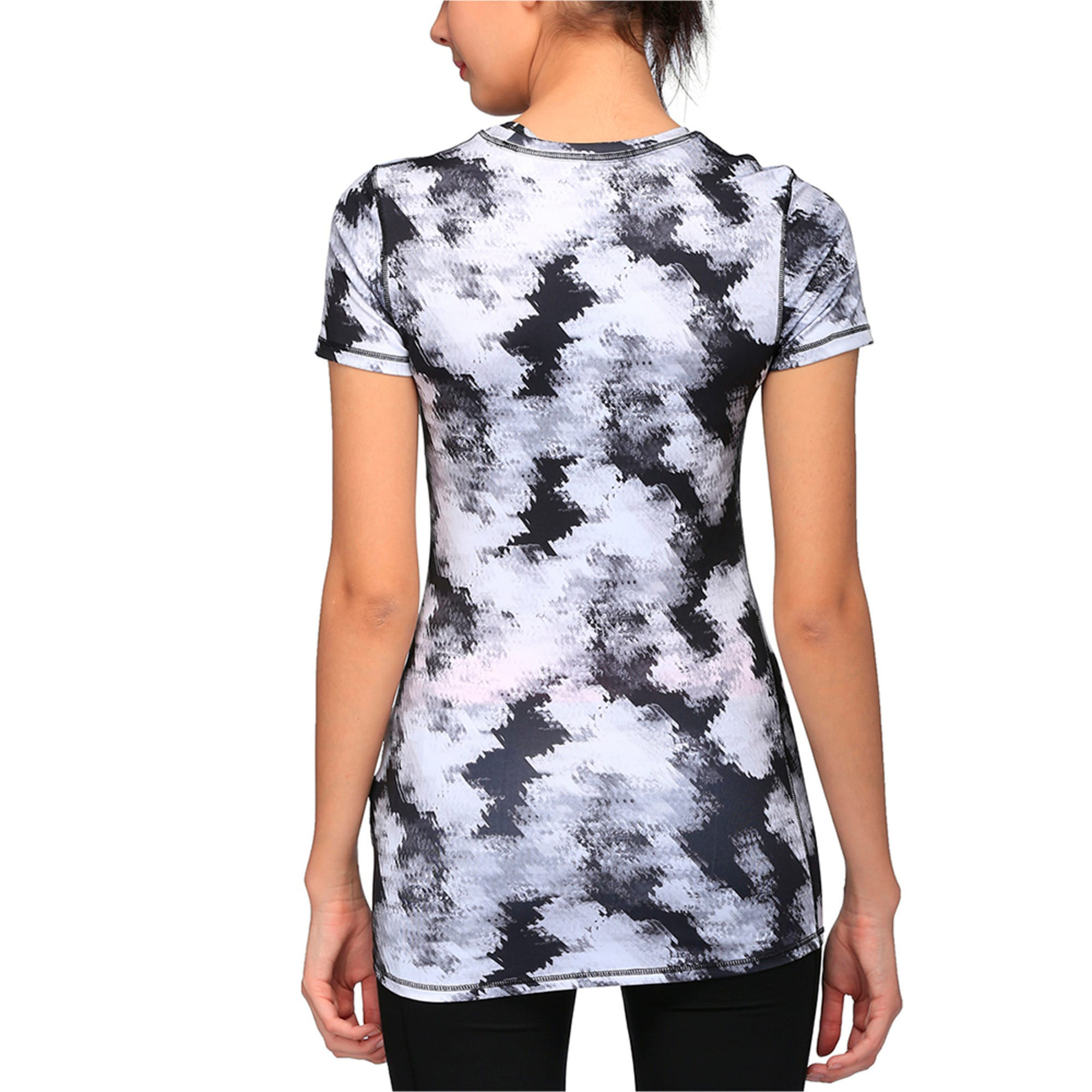 Thumbnail 2 of Training Women's Essential Graphic T-Shirt, black-white explosive print, medium-IND
