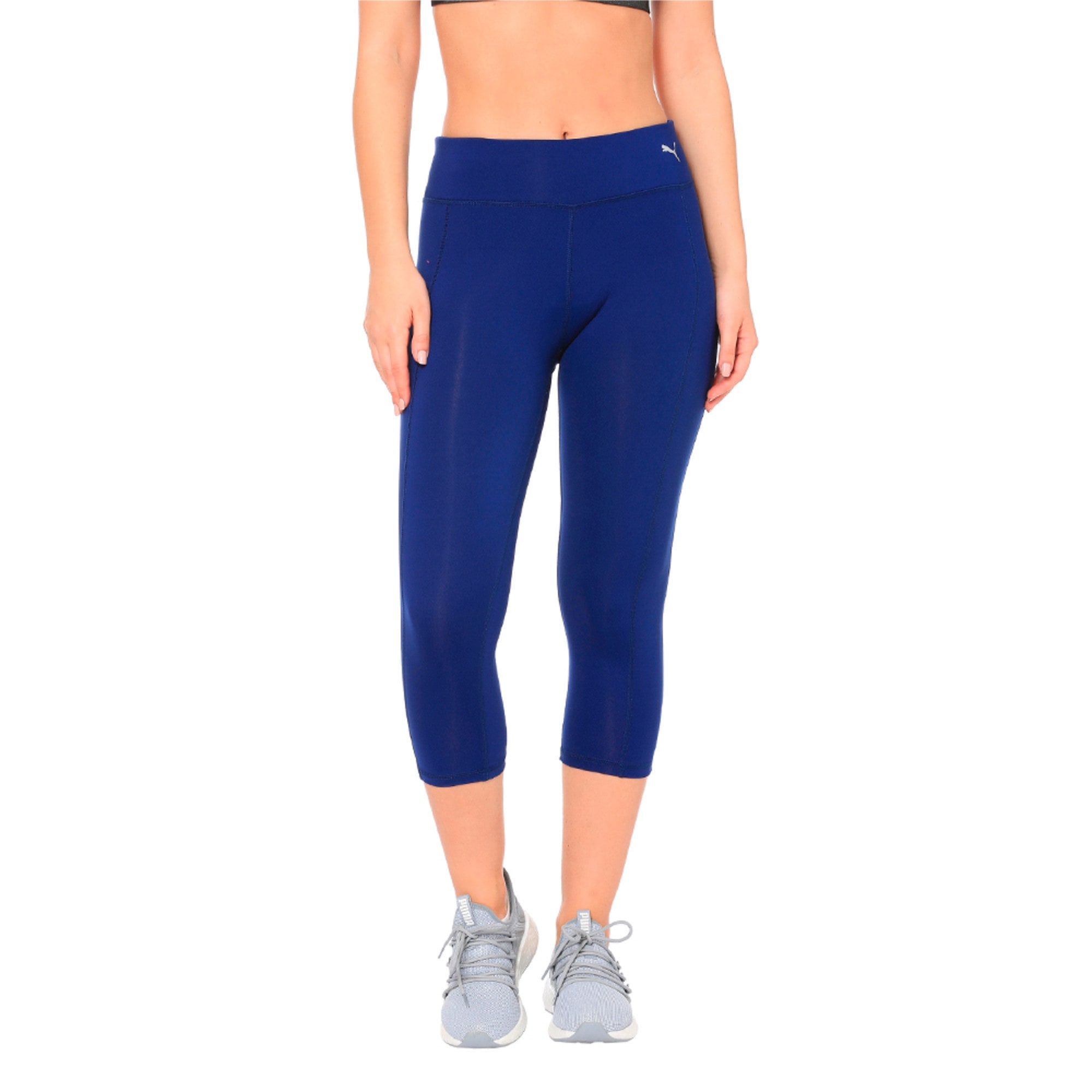 Thumbnail 3 of Training Women's Essential 3/4 Tights, Blue Depths, medium-IND