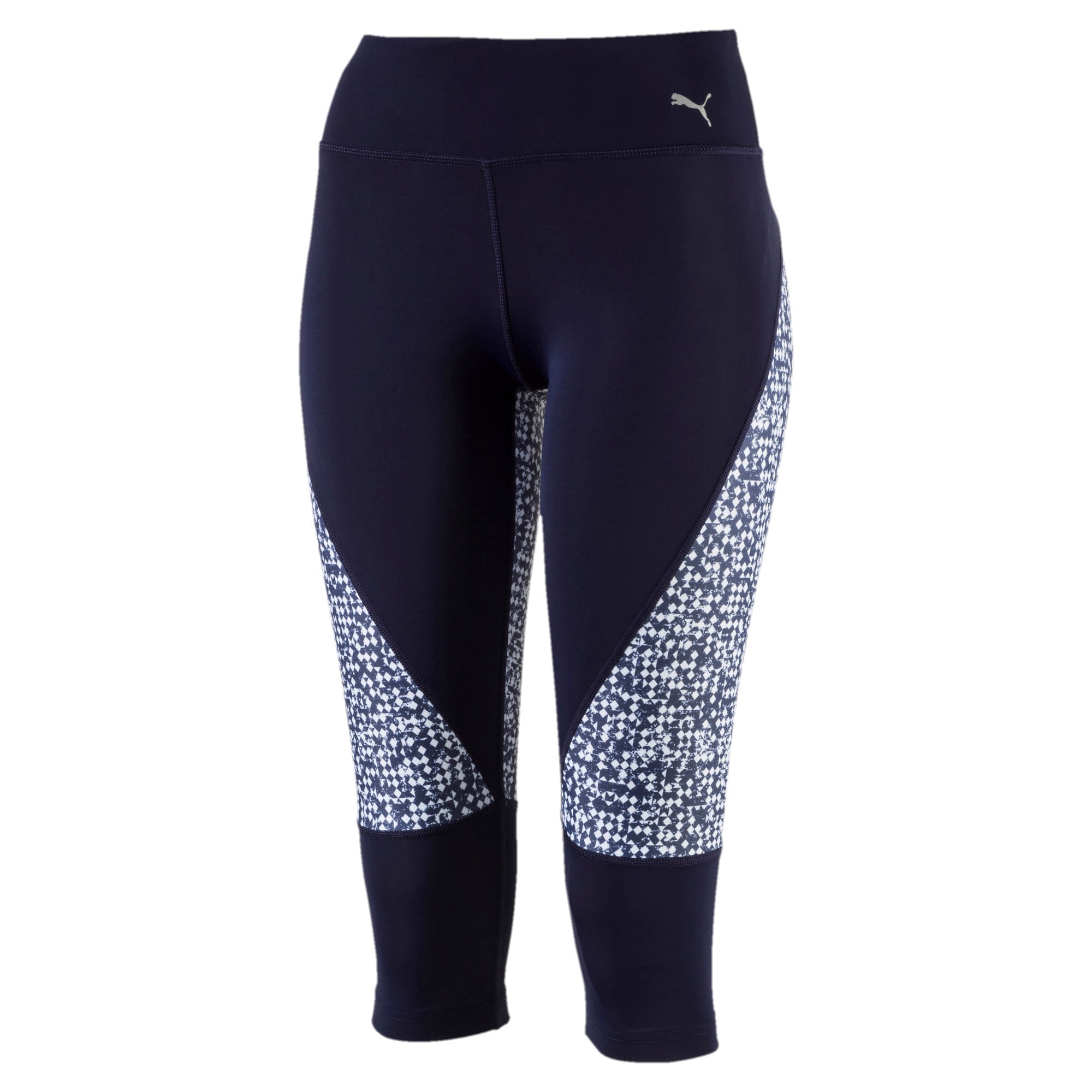 Thumbnail 1 of Active Training Women's Culture Surf 3/4 Tights, Peacoat-white box print, medium-IND