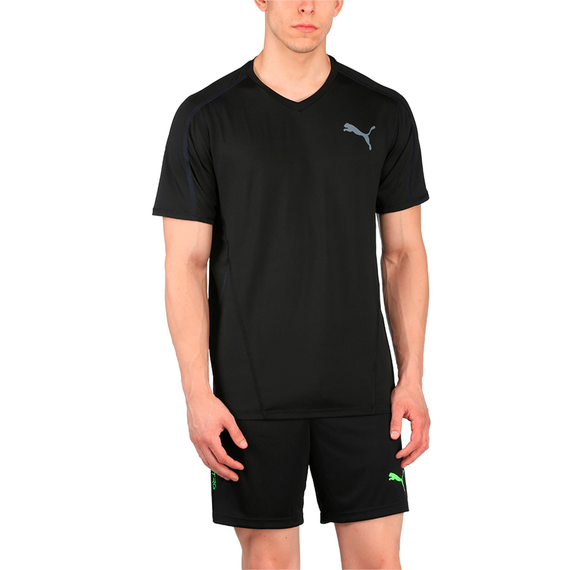 Thumbnail 2 of Active Training Men's Power T-Shirt, Puma Black, medium-IND