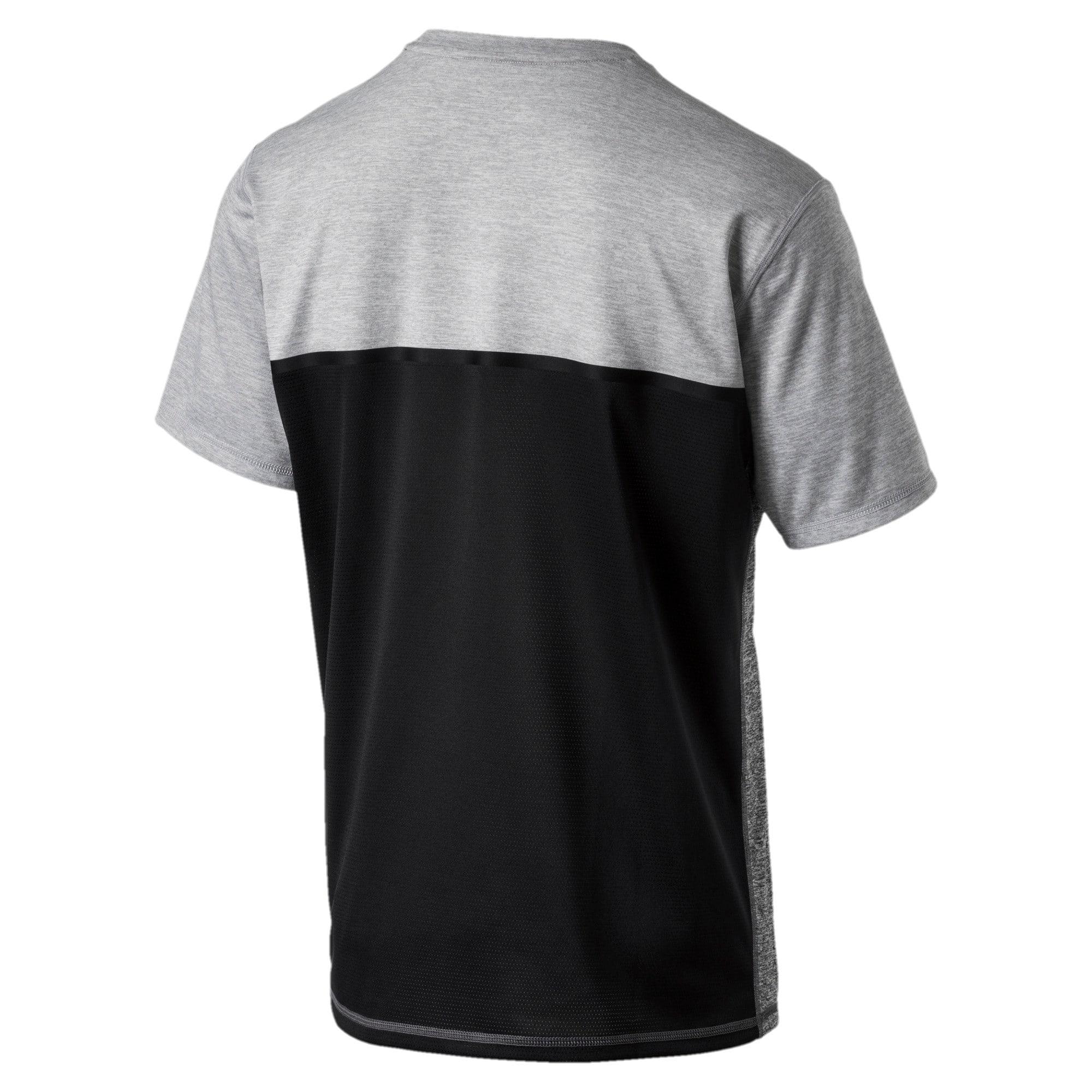 Thumbnail 4 of Active Training Men's Bonded Tech T-Shirt, Light GrayHthr-Dark GrayHthr, medium-IND