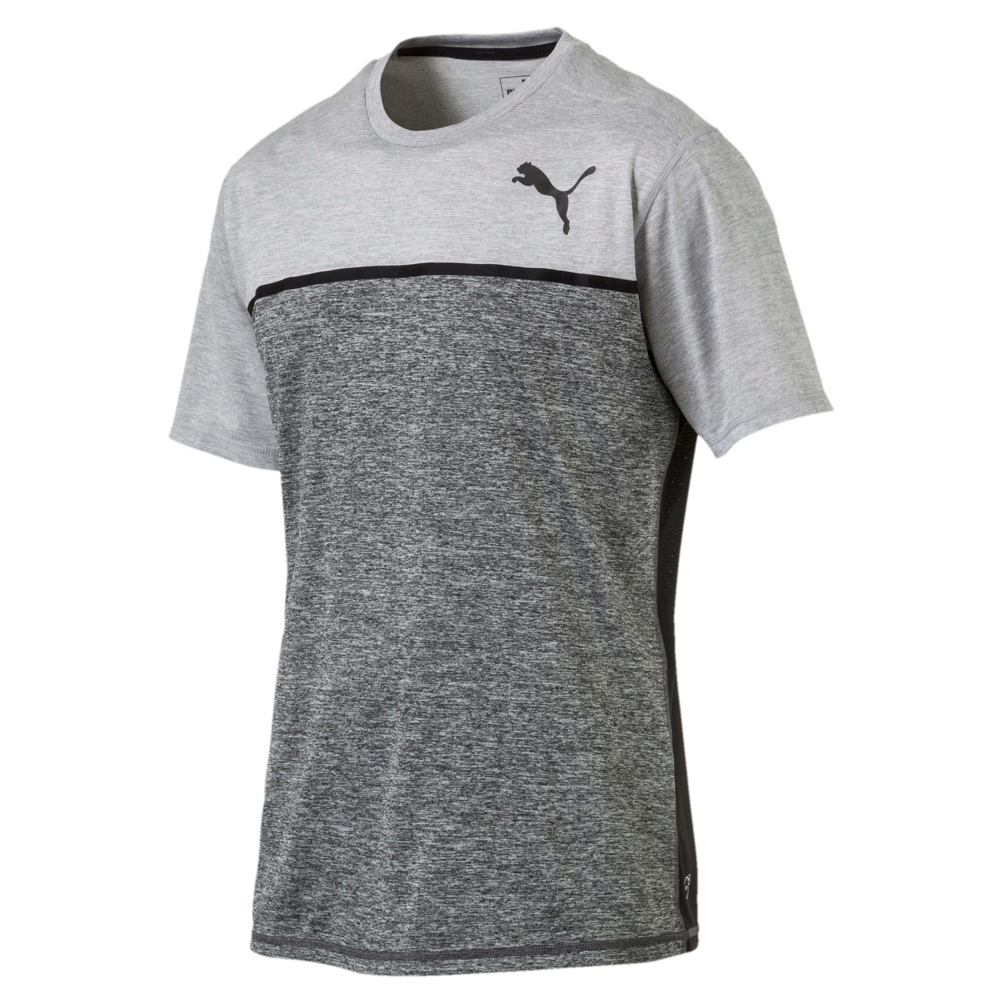 Thumbnail 3 of Active Training Men's Bonded Tech T-Shirt, Light GrayHthr-Dark GrayHthr, medium-IND