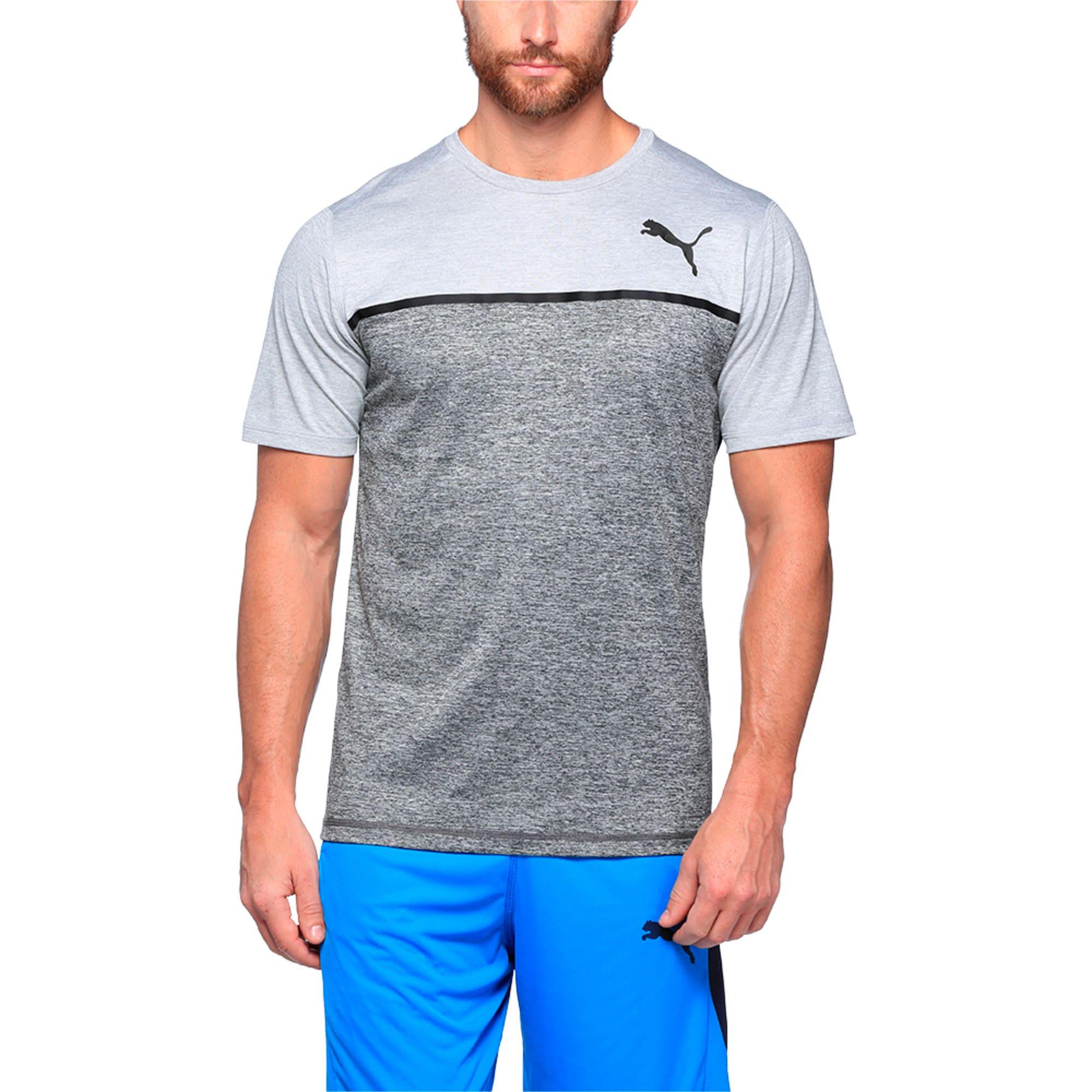 Thumbnail 1 of Active Training Men's Bonded Tech T-Shirt, Light GrayHthr-Dark GrayHthr, medium-IND