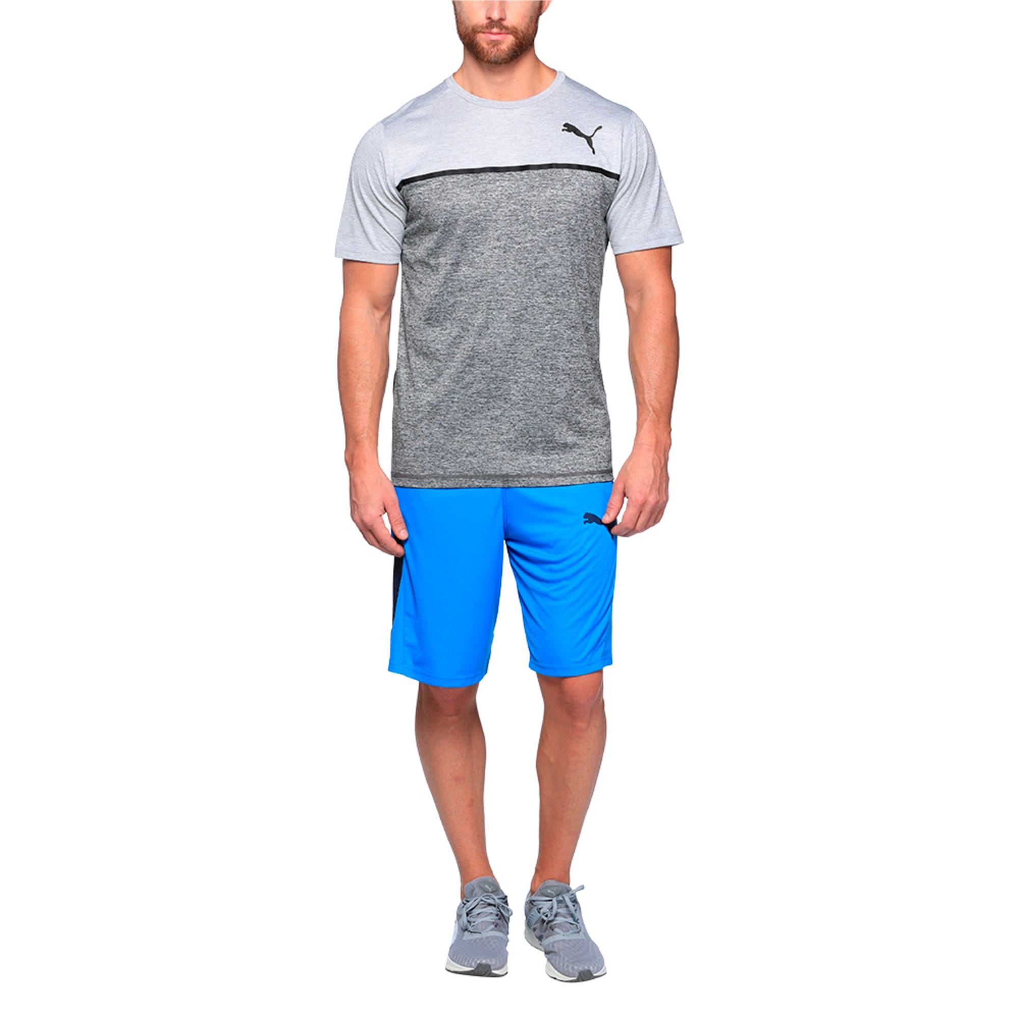 Thumbnail 2 of Active Training Men's Bonded Tech T-Shirt, Light GrayHthr-Dark GrayHthr, medium-IND