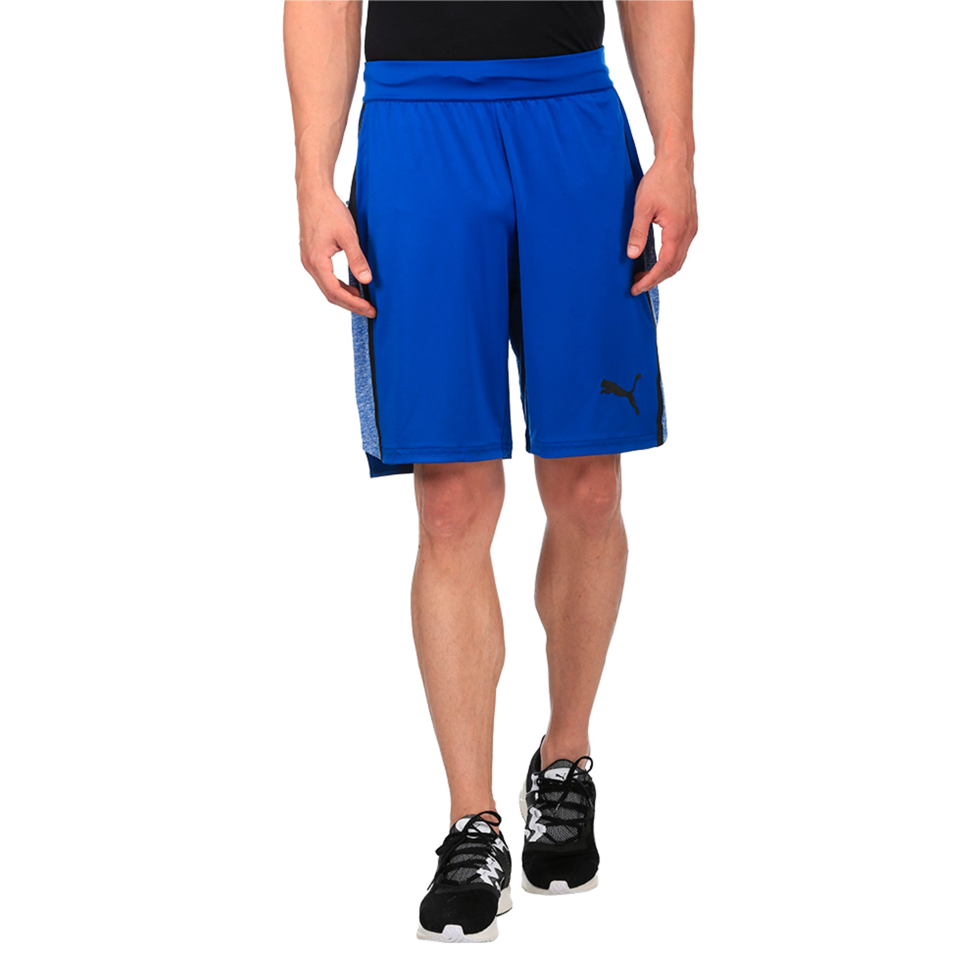 Thumbnail 5 of Active Training Men's Bonded Tech Shorts, TRUE BLUE-TRUE BLUE Heather, medium-IND