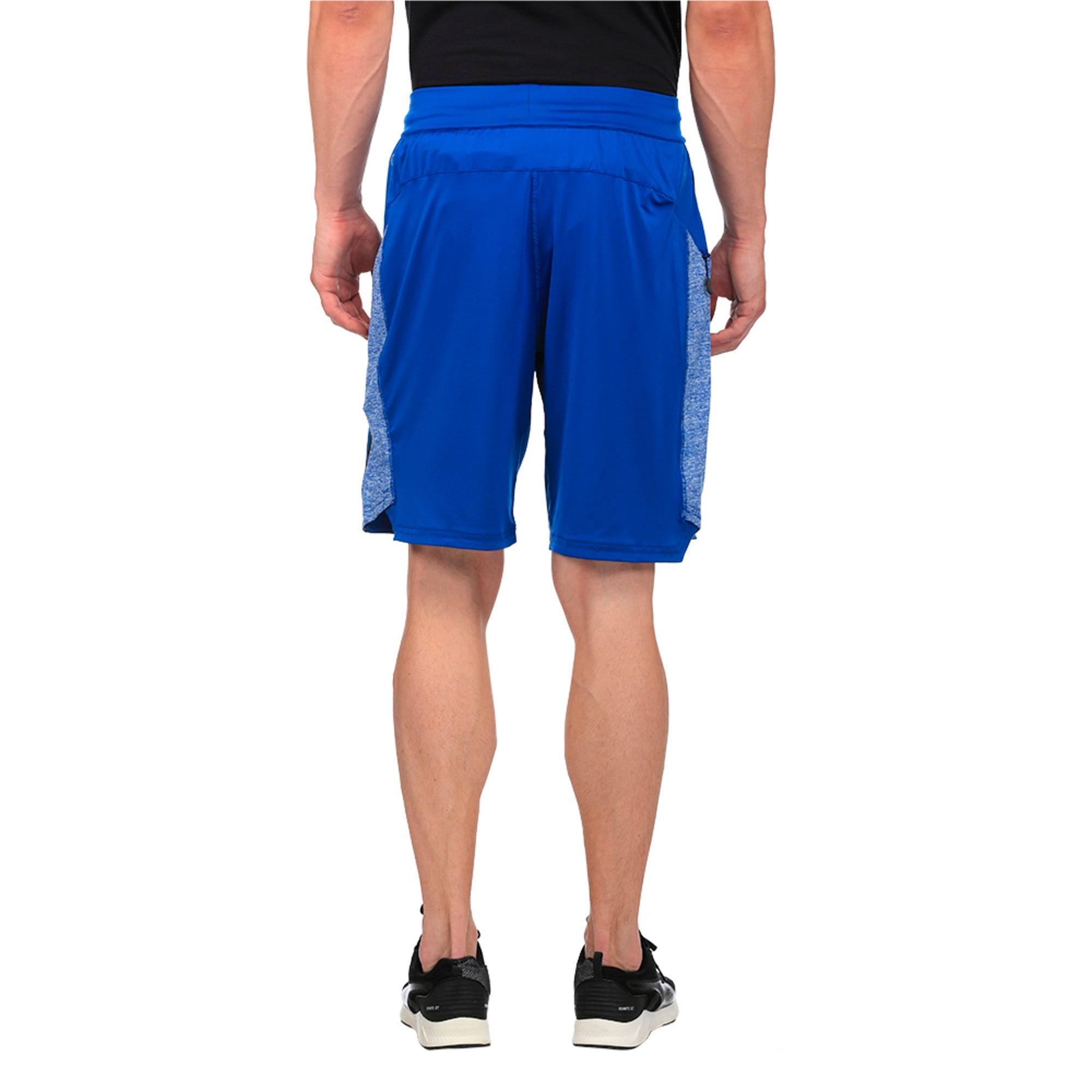 Thumbnail 2 of Active Training Men's Bonded Tech Shorts, TRUE BLUE-TRUE BLUE Heather, medium-IND