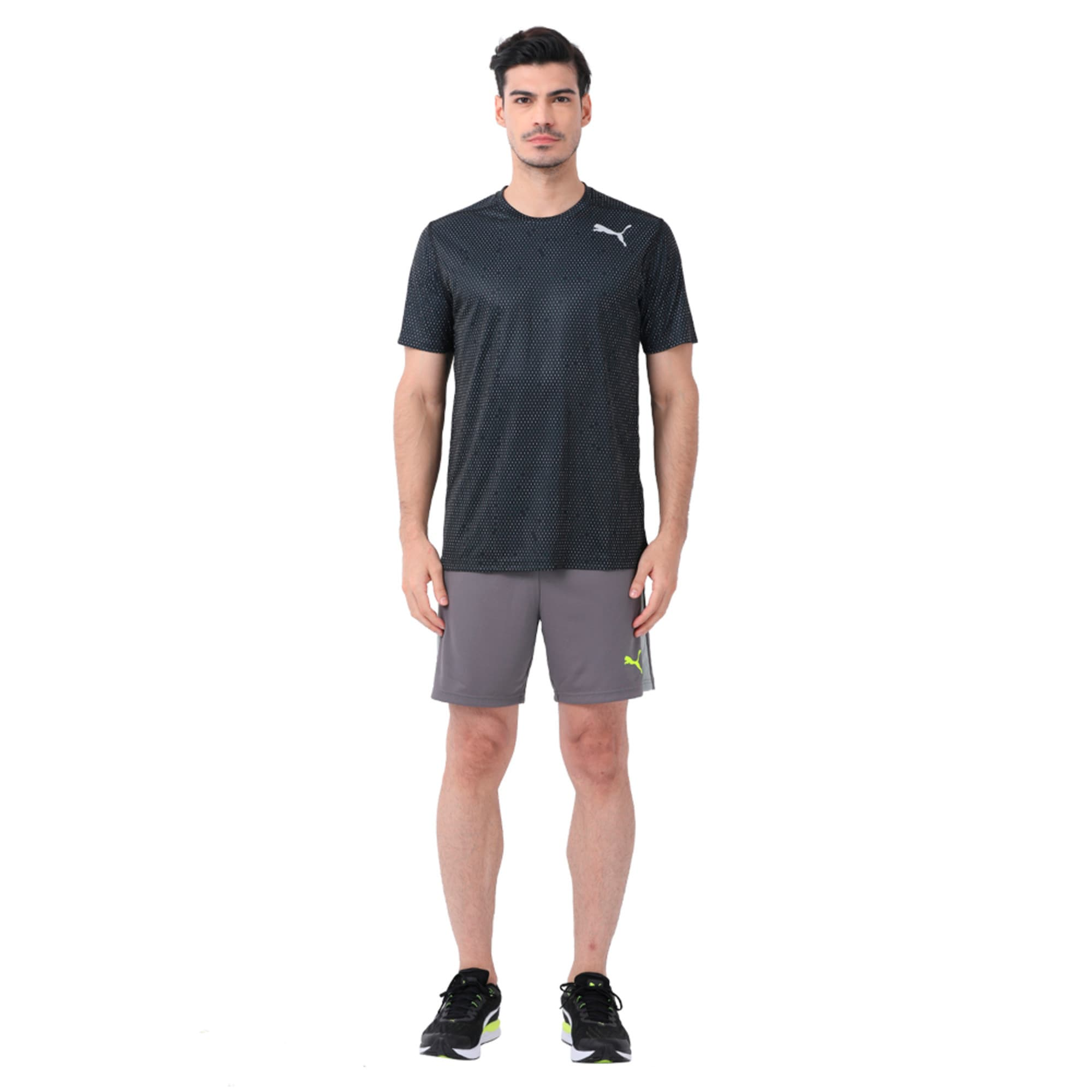 Thumbnail 3 of Training Men's Tech Graphic T-Shirt, puma black-Q3, medium-IND