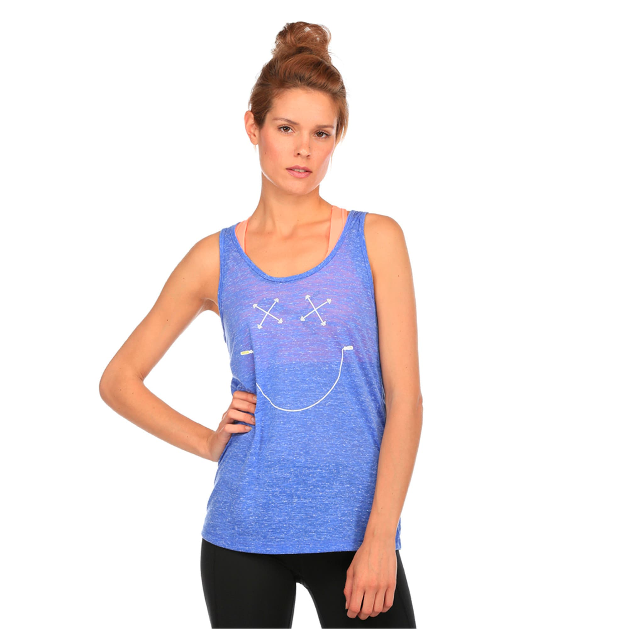 Training Women's Essential Dri-Release® Tank Top, Baja Blue Heather, large-IND
