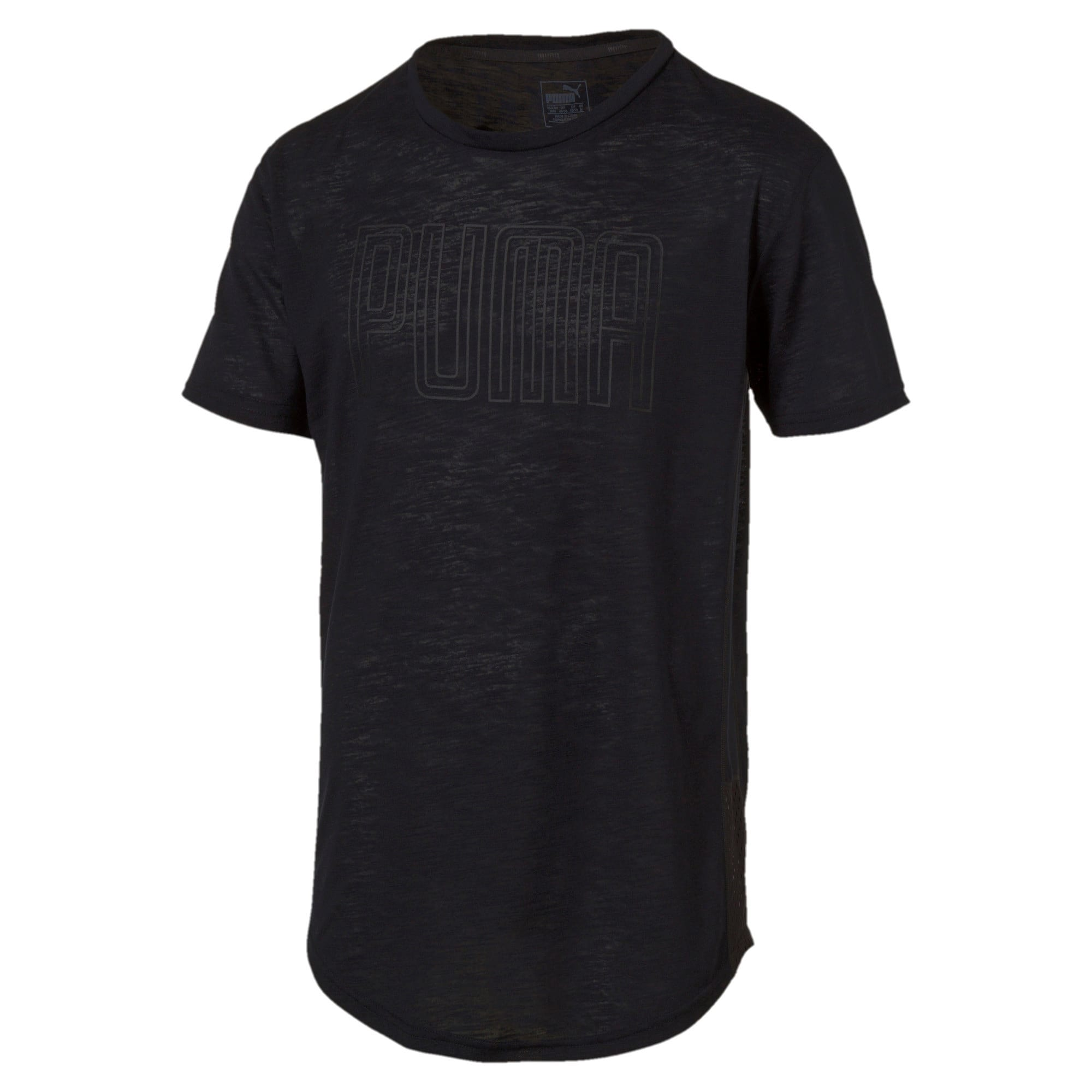 Thumbnail 3 of Active Training Men's Dri-Release® Novelty Graphic T-Shirt, Puma Black Heather, medium-IND
