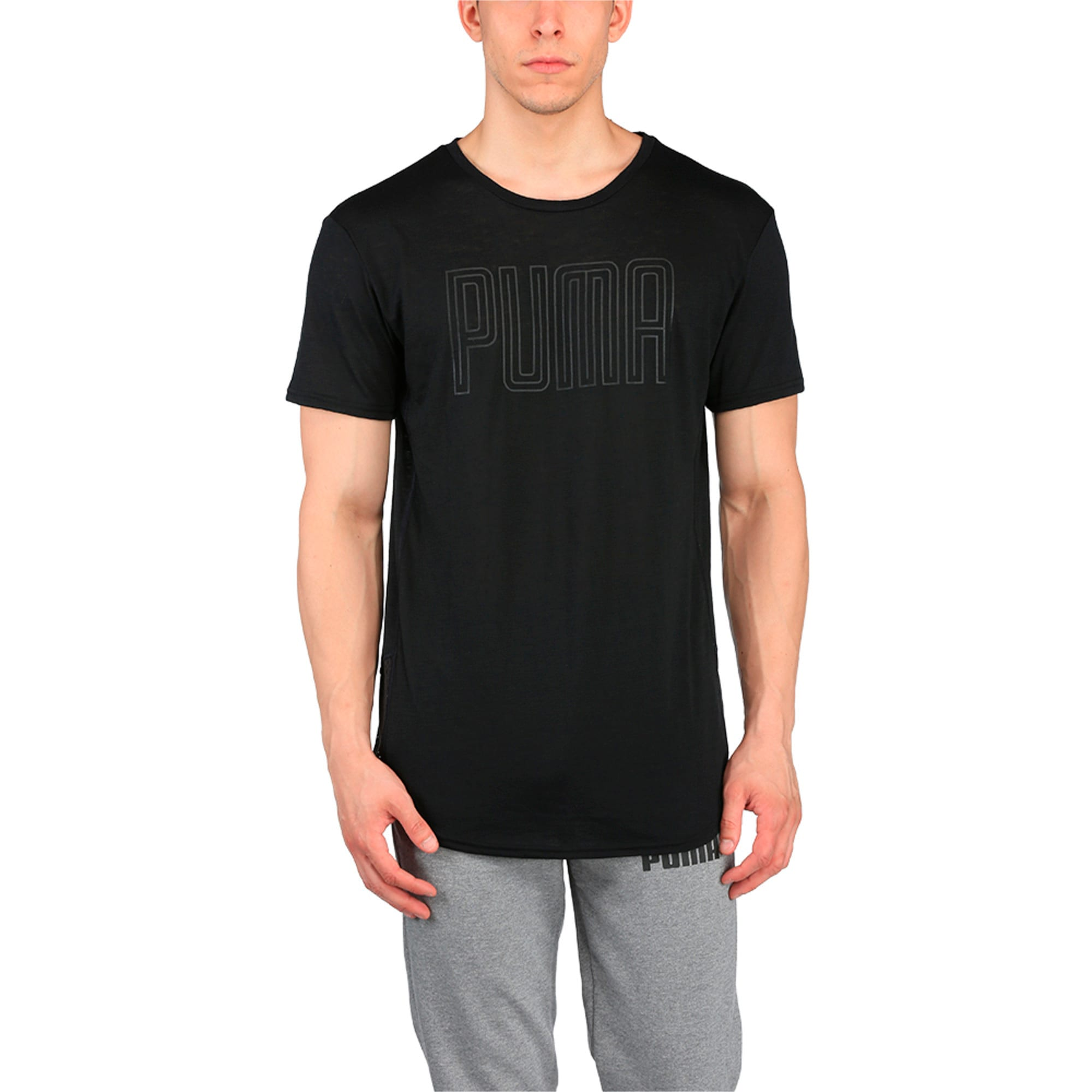 Thumbnail 1 of Active Training Men's Dri-Release® Novelty Graphic T-Shirt, Puma Black Heather, medium-IND