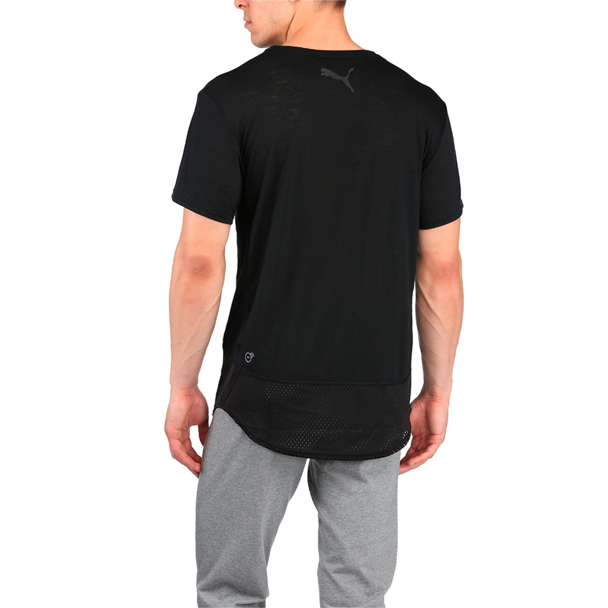 Thumbnail 2 of Active Training Men's Dri-Release® Novelty Graphic T-Shirt, Puma Black Heather, medium-IND