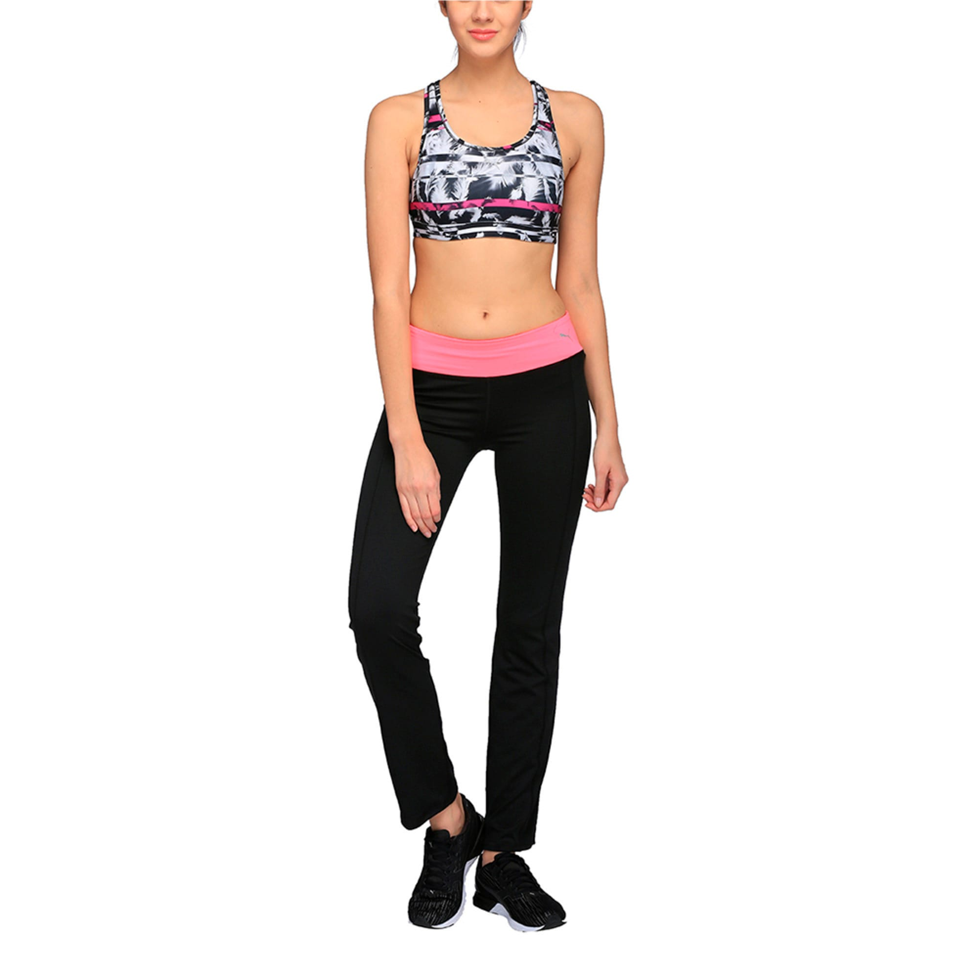 Thumbnail 2 of Training Women's PWRSHAPE Forever Graphic Padded Crop Top, black-magenta-feather prt, medium-IND