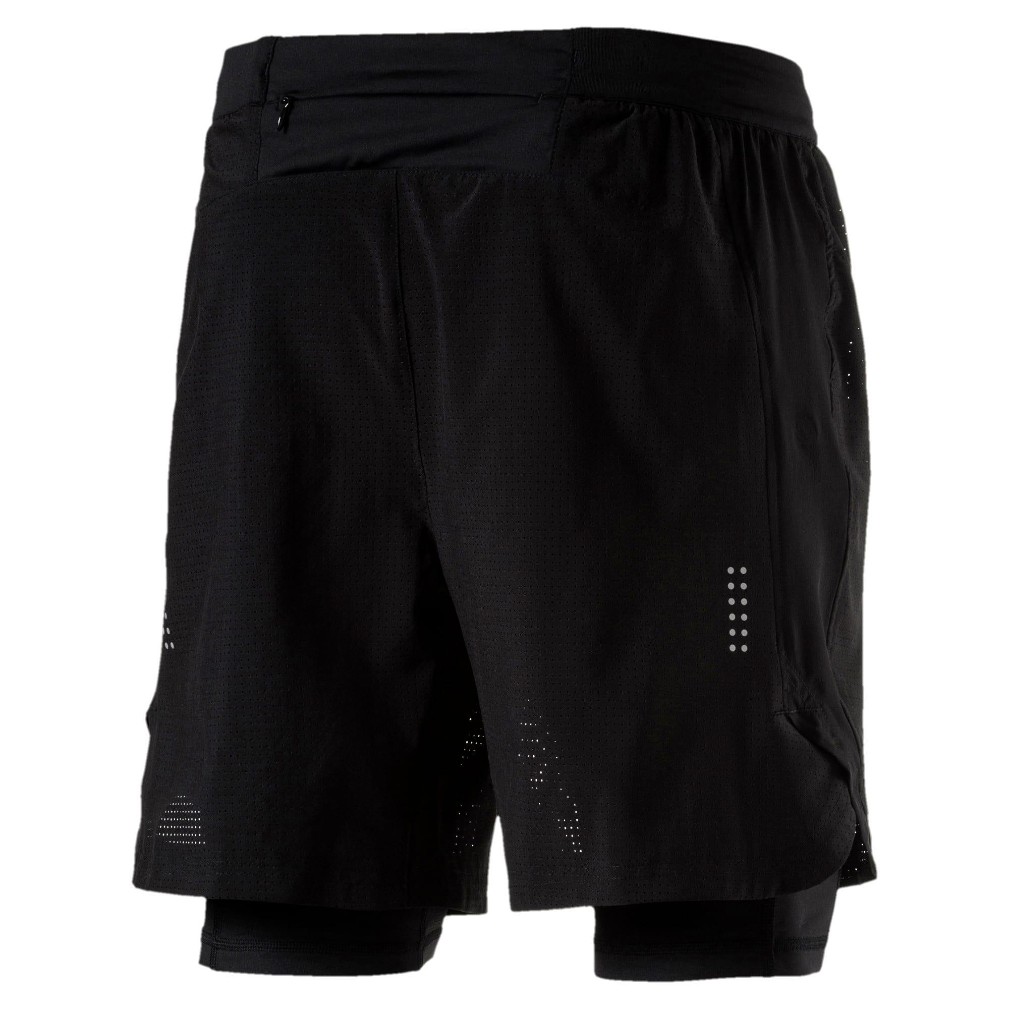 Thumbnail 5 of Running Men's Pace 2 in 1 Shorts, Puma Black, medium-IND