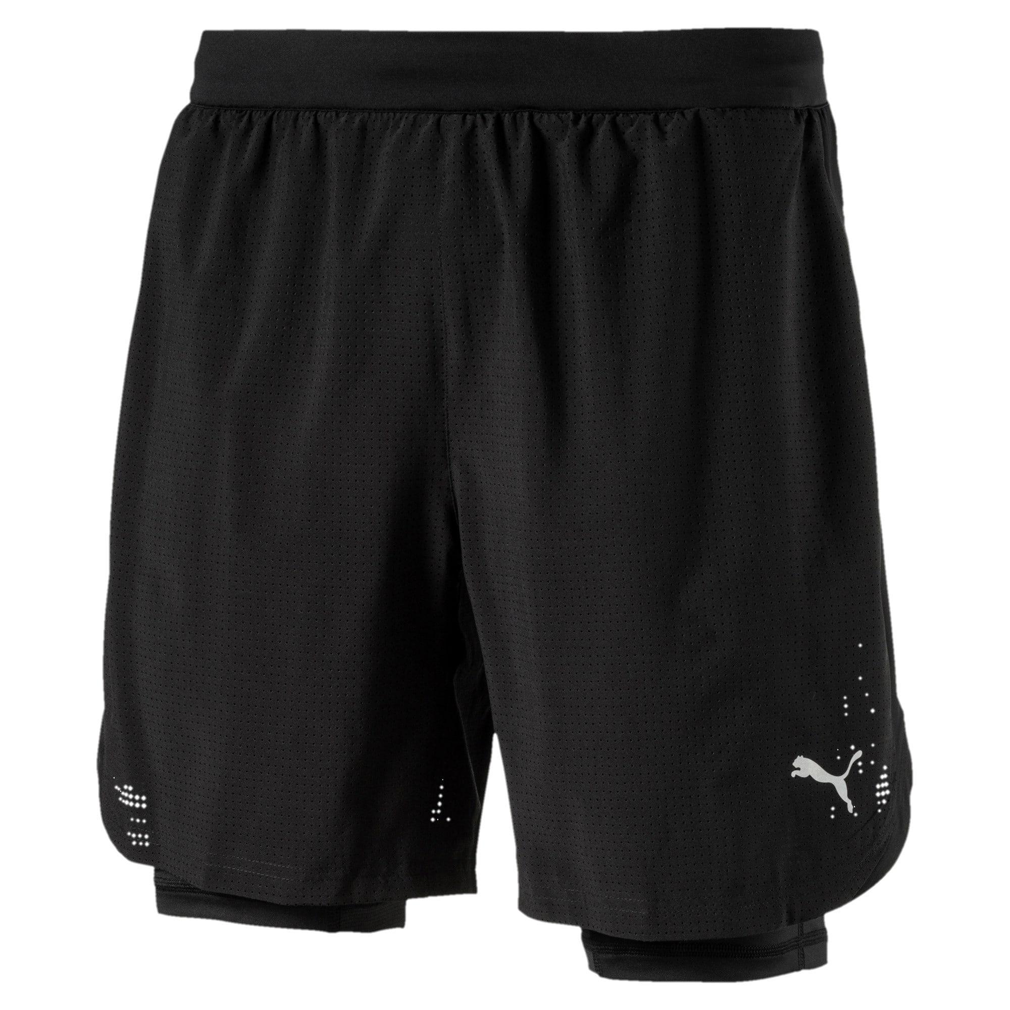 Thumbnail 1 of Running Men's Pace 2 in 1 Shorts, Puma Black, medium-IND