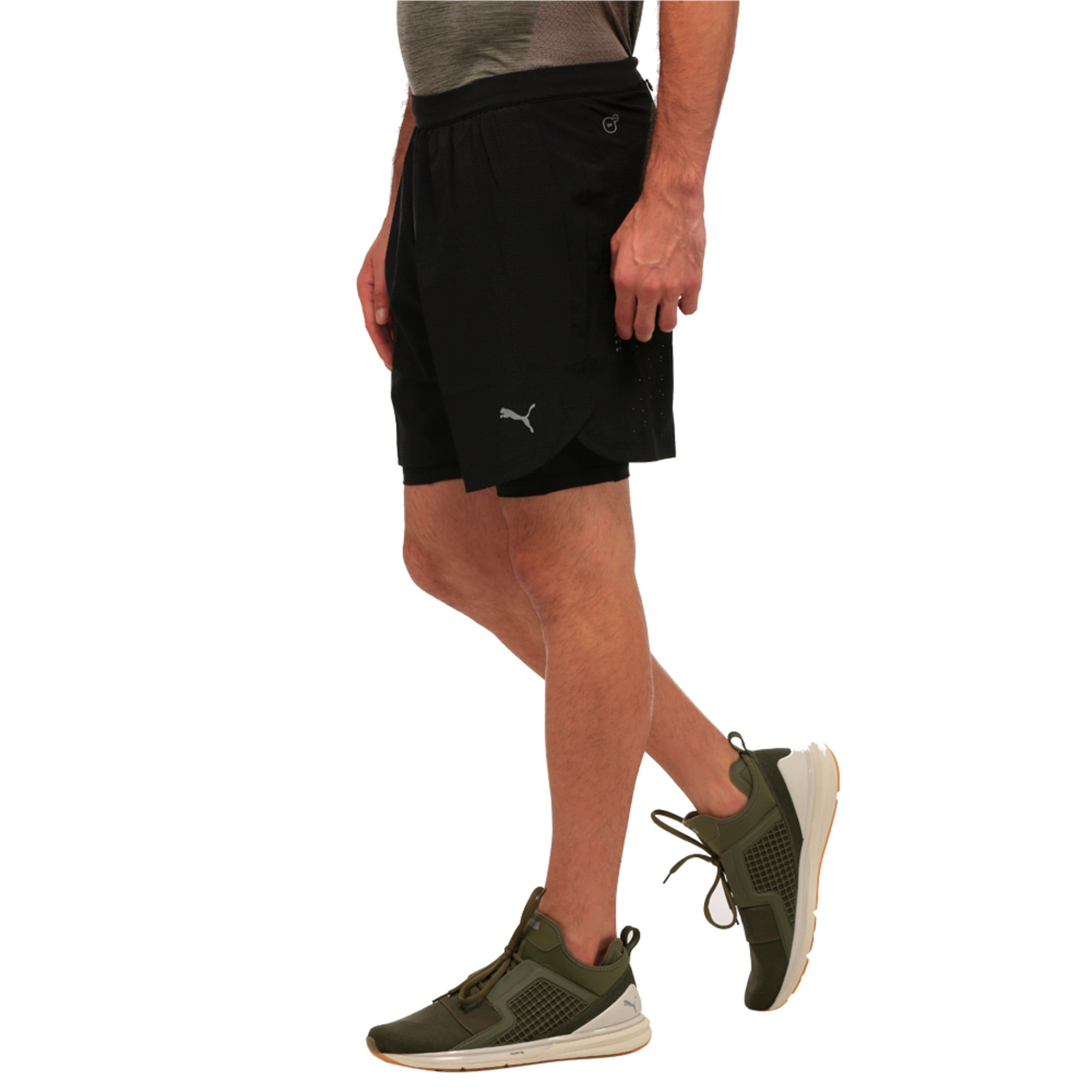 Thumbnail 3 of Running Men's Pace 2 in 1 Shorts, Puma Black, medium-IND
