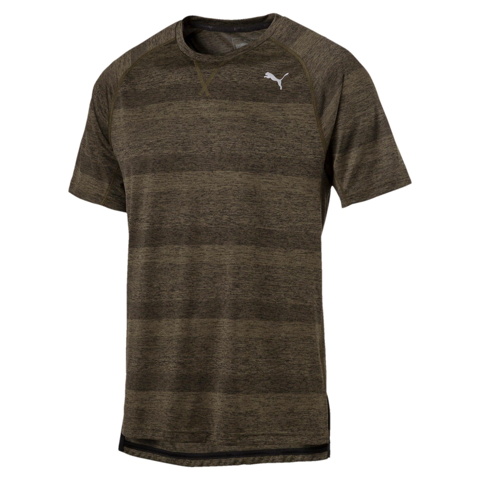 Thumbnail 4 of Running Men's Energy T-Shirt, Olive Night Heather, medium-IND