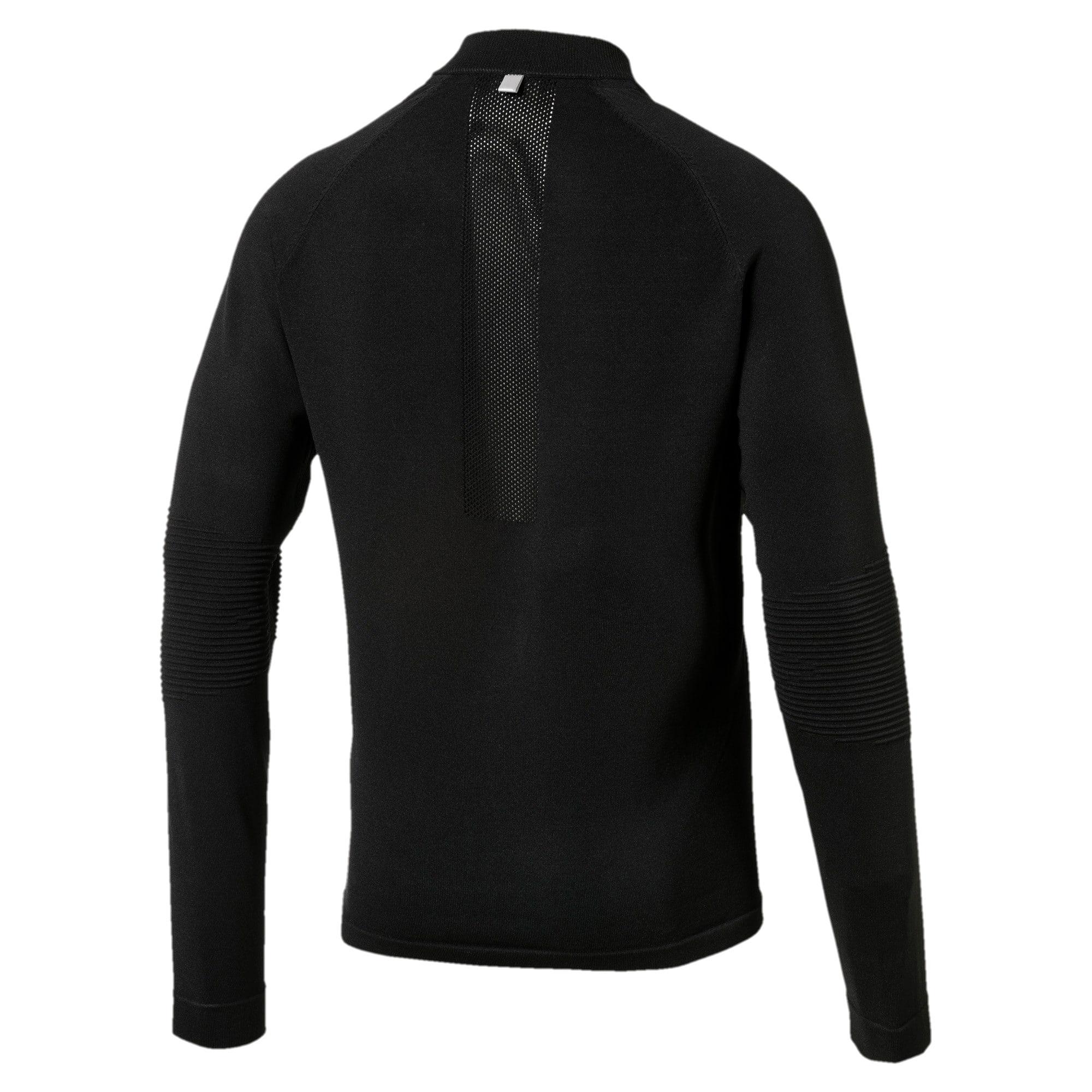 Thumbnail 4 of Running Men's evoKNIT Padded Jacket, Puma Black, medium-IND