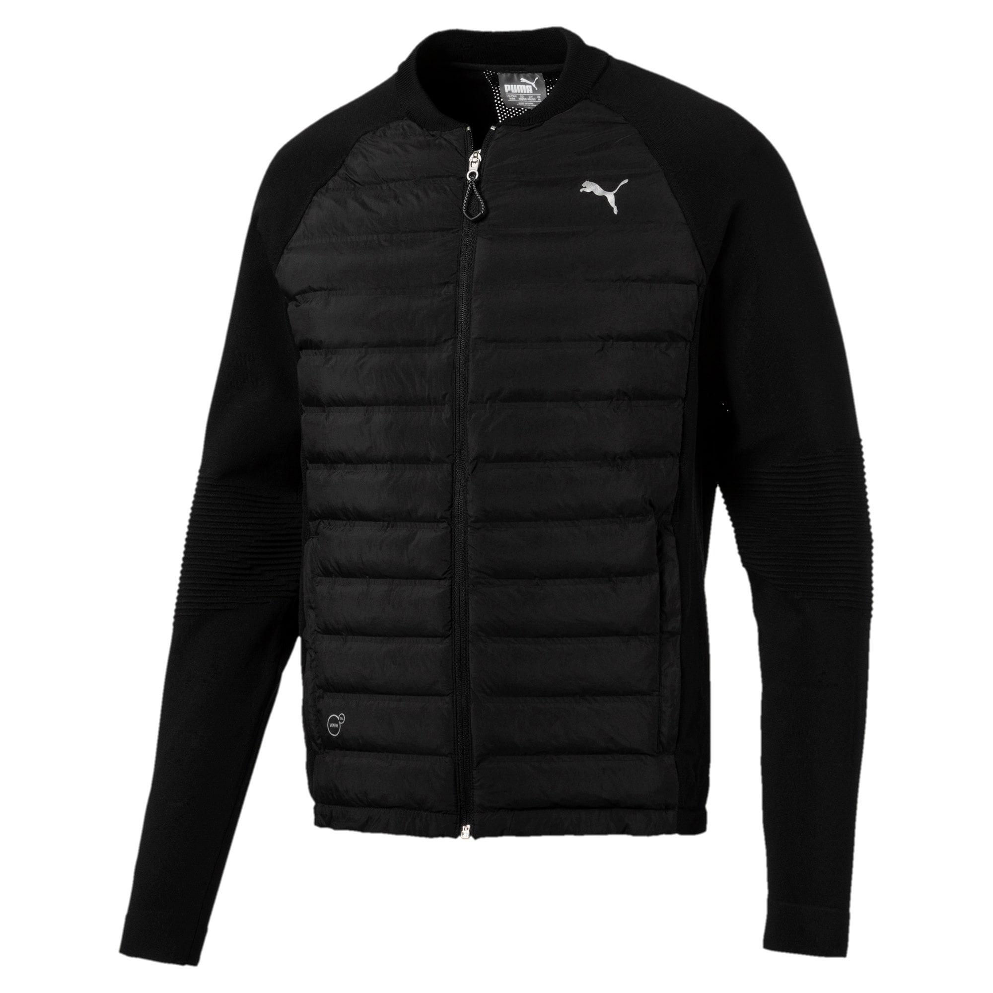 Thumbnail 5 of Running Men's evoKNIT Padded Jacket, Puma Black, medium-IND