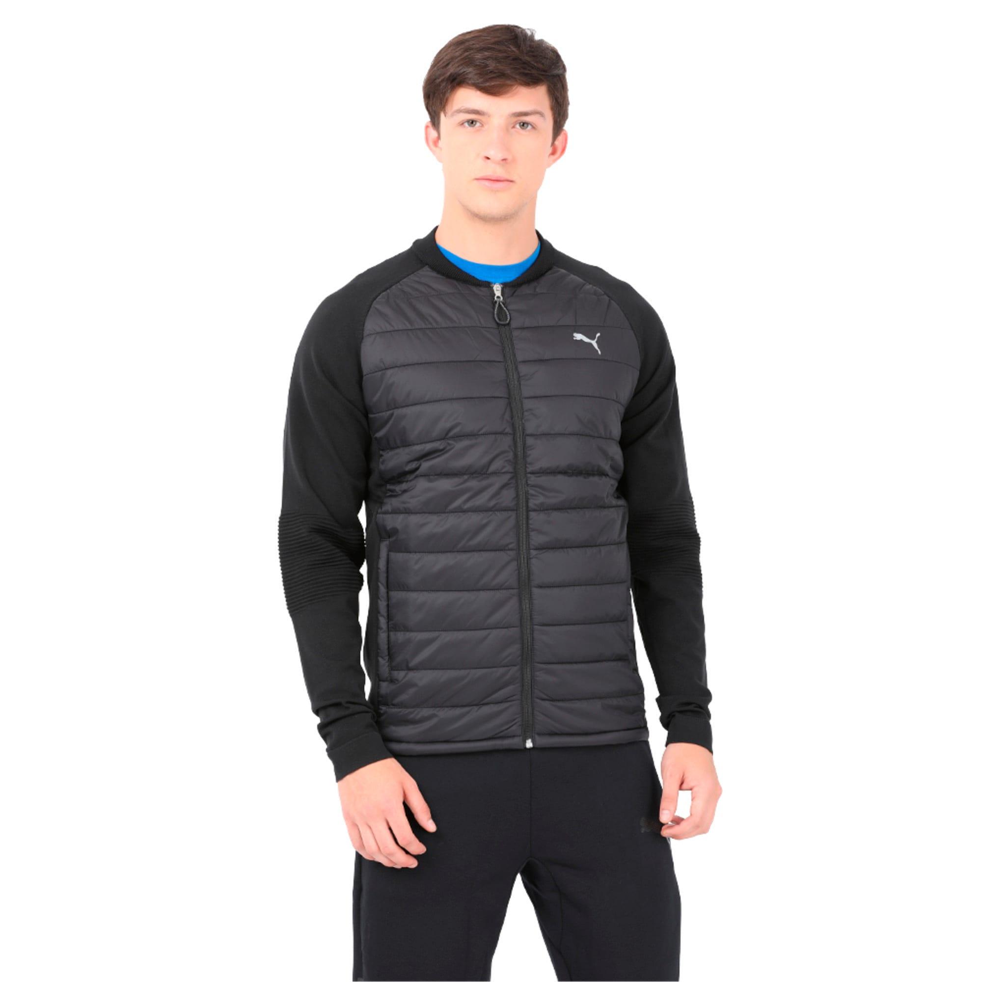 Thumbnail 1 of Running Men's evoKNIT Padded Jacket, Puma Black, medium-IND