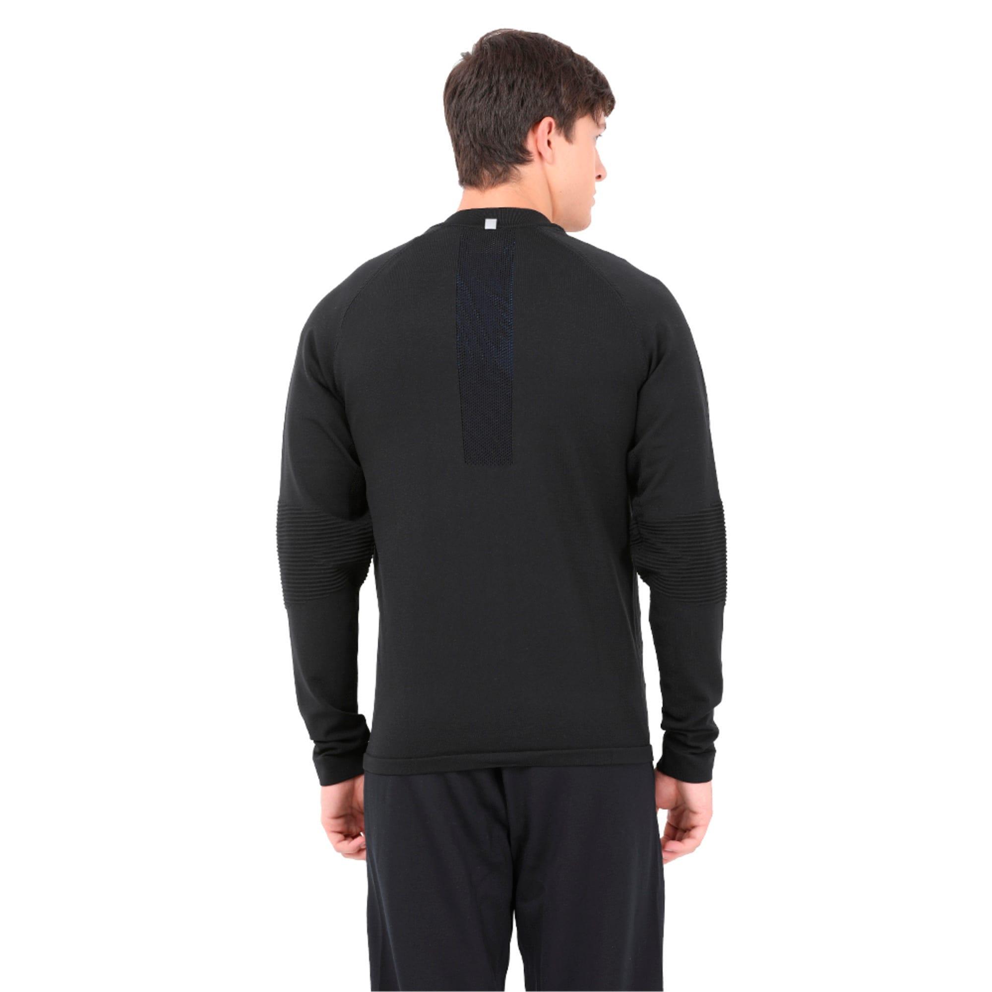 Thumbnail 2 of Running Men's evoKNIT Padded Jacket, Puma Black, medium-IND