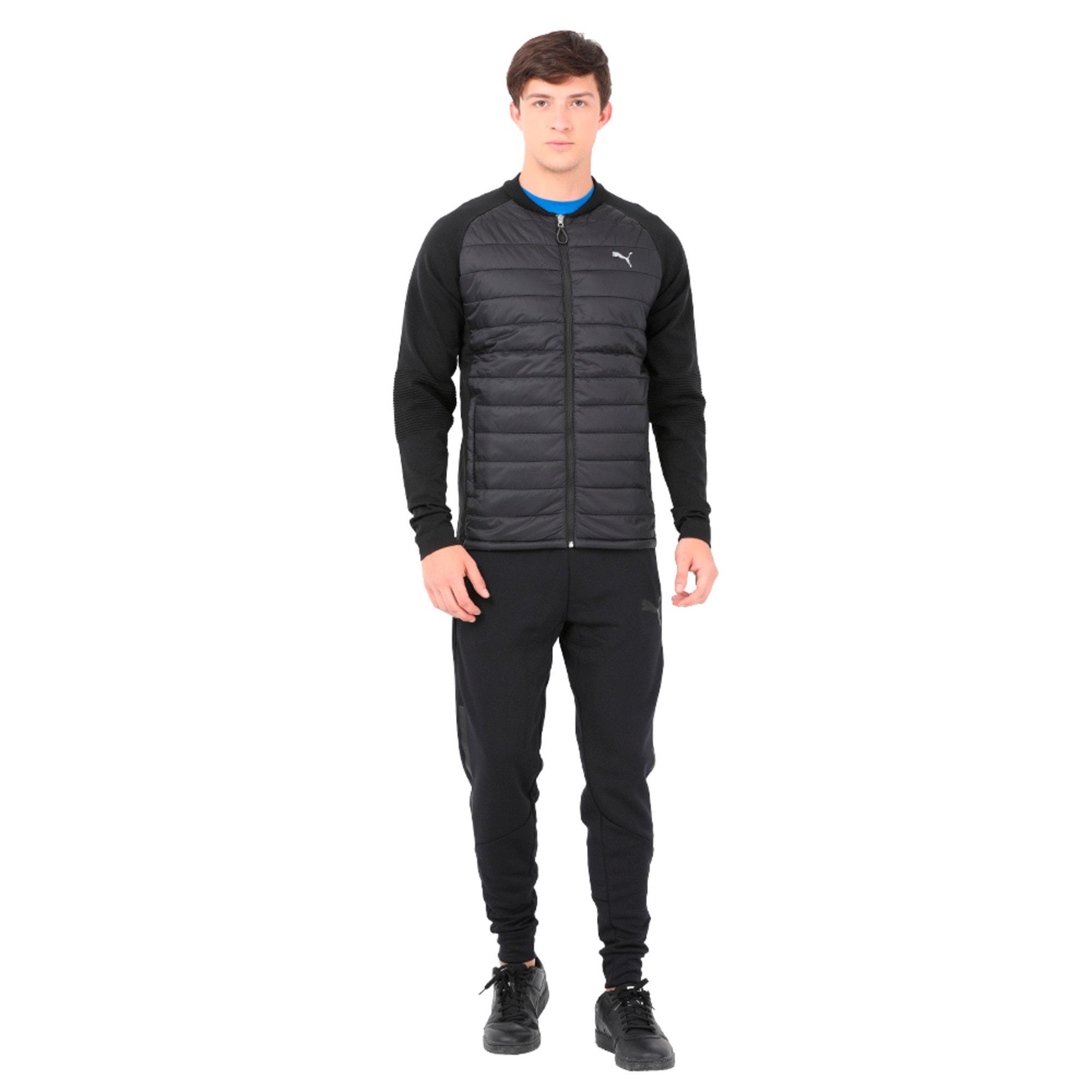 Thumbnail 3 of Running Men's evoKNIT Padded Jacket, Puma Black, medium-IND