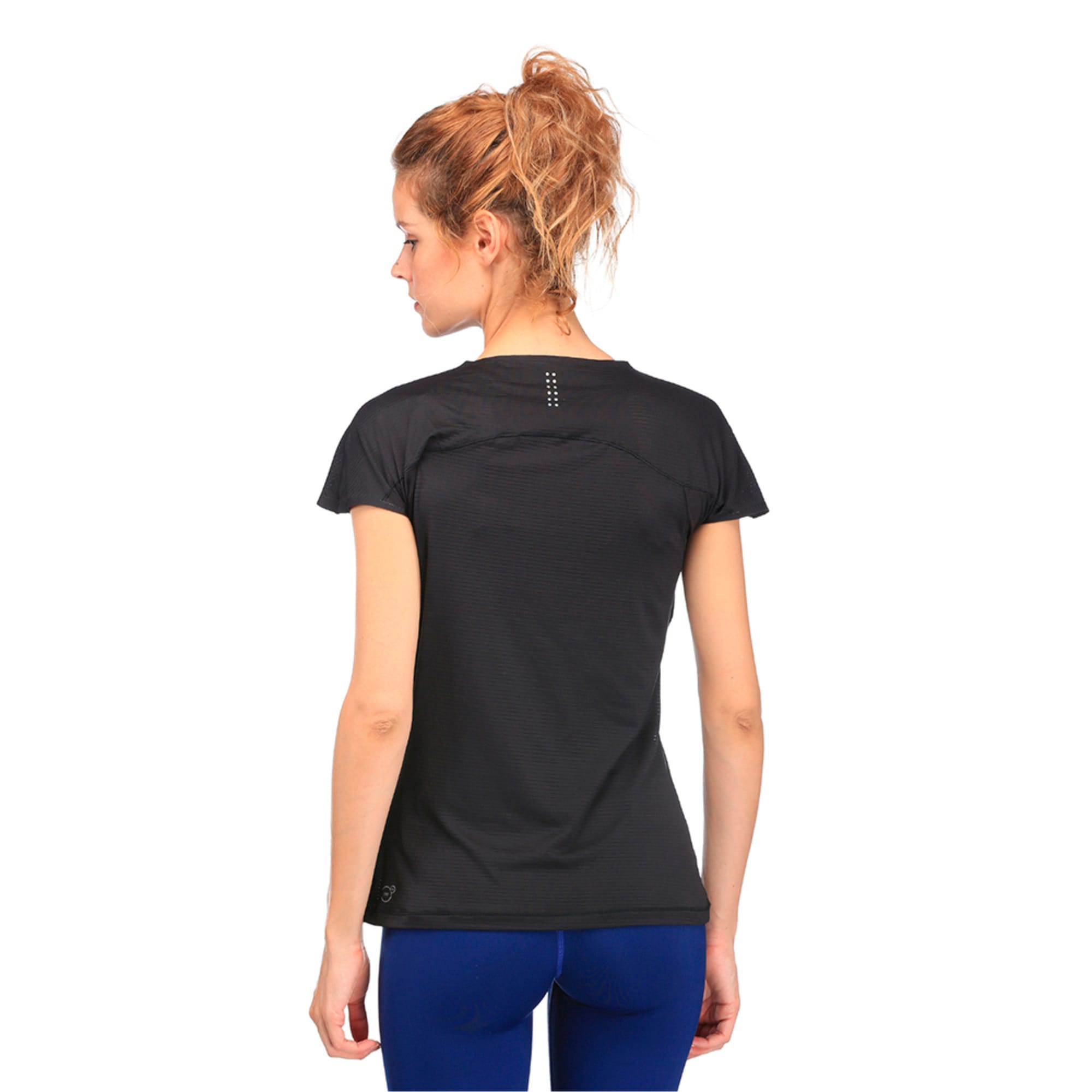 Thumbnail 3 of Running Women's Speed T-Shirt, Puma Black, medium-IND