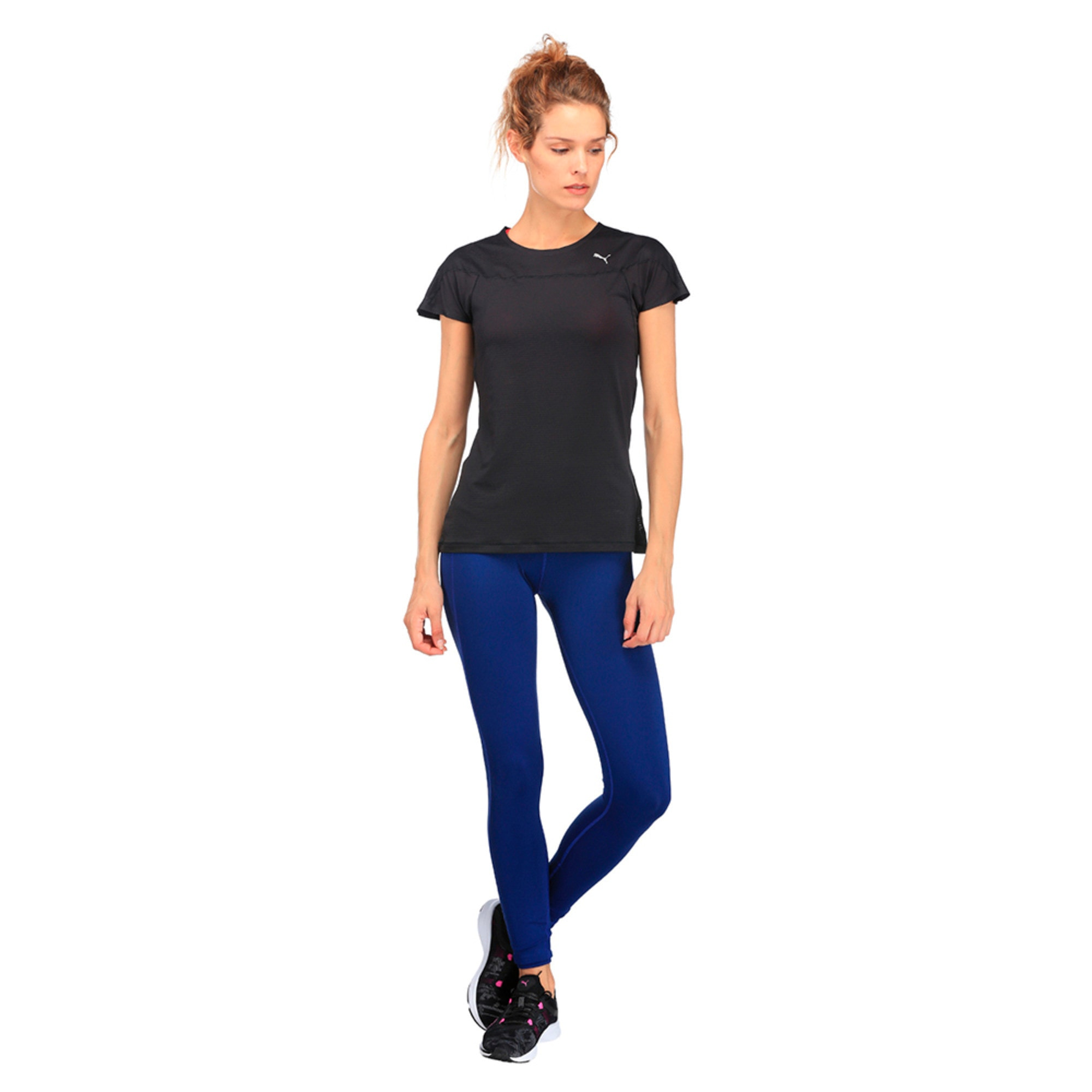 Thumbnail 2 of Running Women's Speed T-Shirt, Puma Black, medium-IND