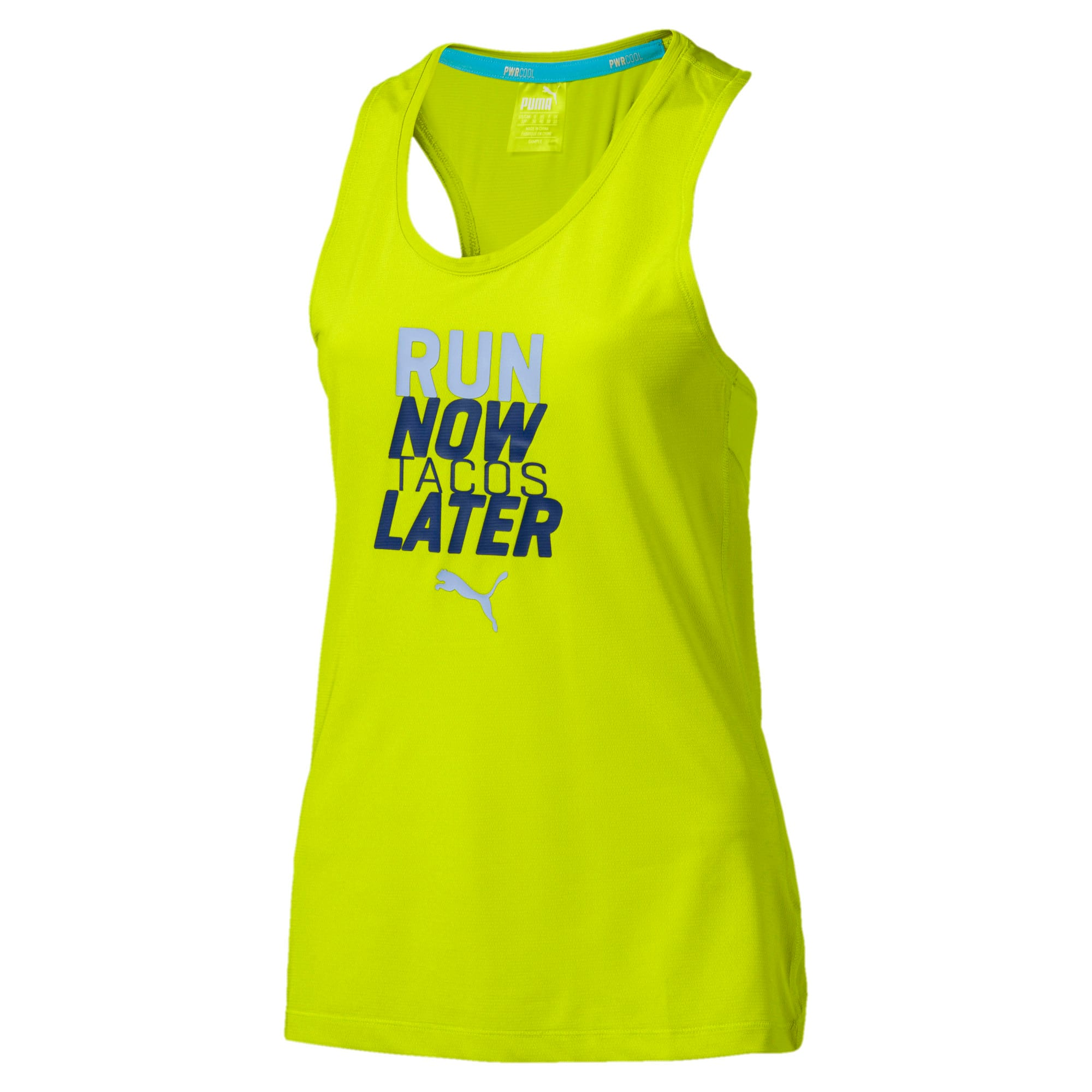 Thumbnail 3 of Running Women's PWRCOOL Slogan Tank Top, Nrgy Yellow, medium-IND
