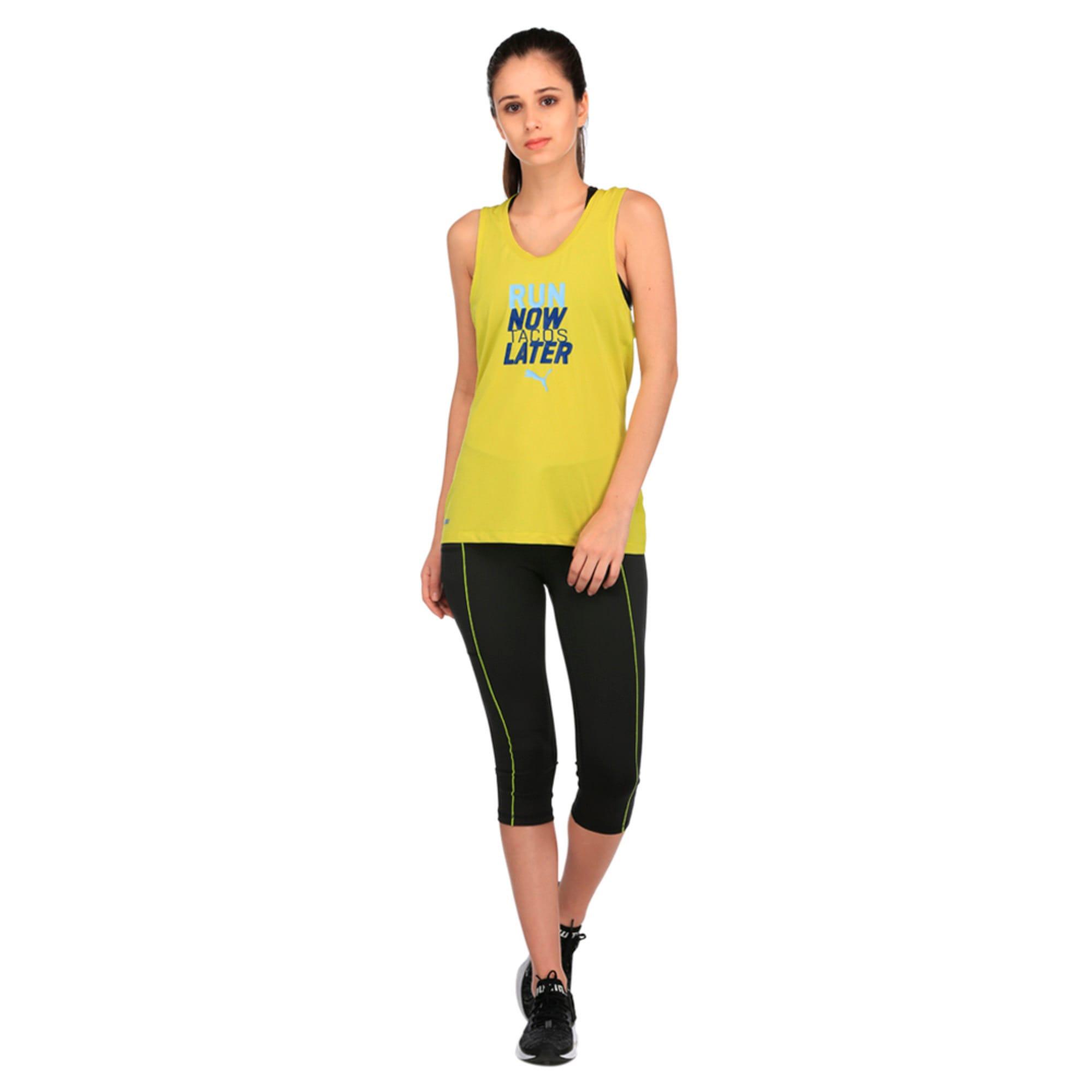 Thumbnail 2 of Running Women's PWRCOOL Slogan Tank Top, Nrgy Yellow, medium-IND