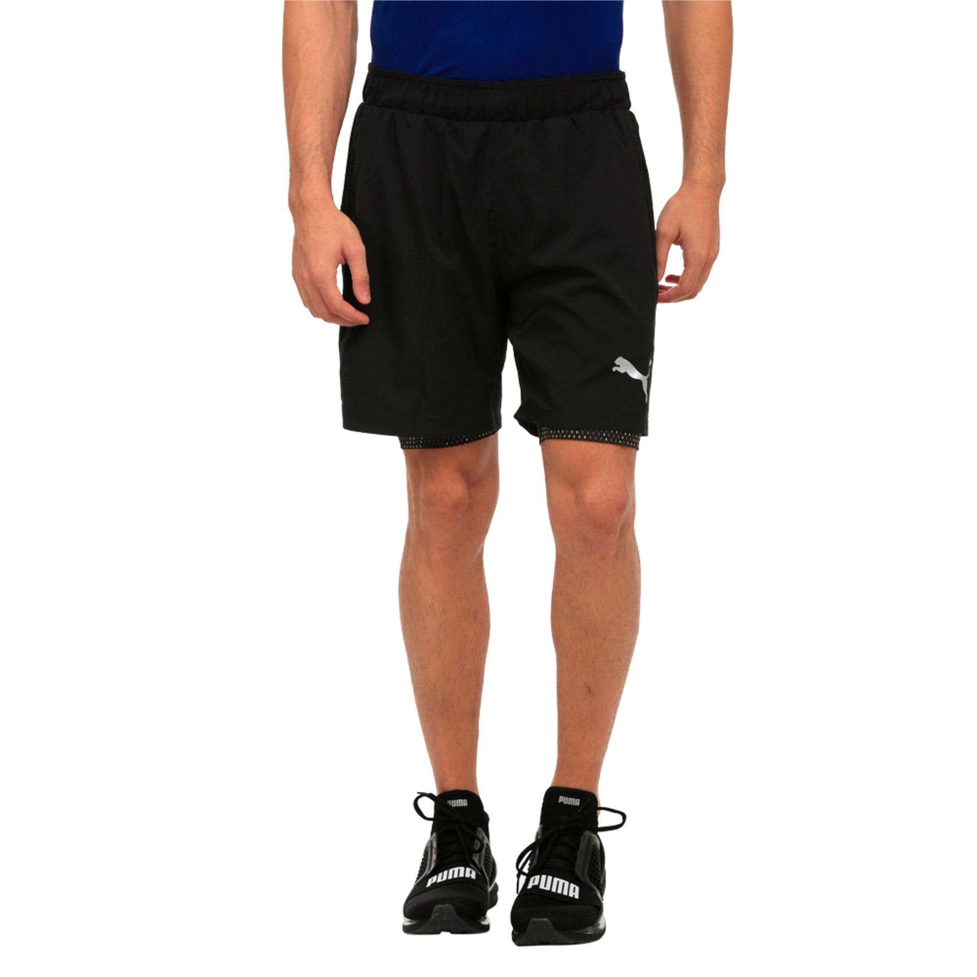 Thumbnail 1 of Active Training Men's 2 in 1 Shorts, Puma Black, medium-IND