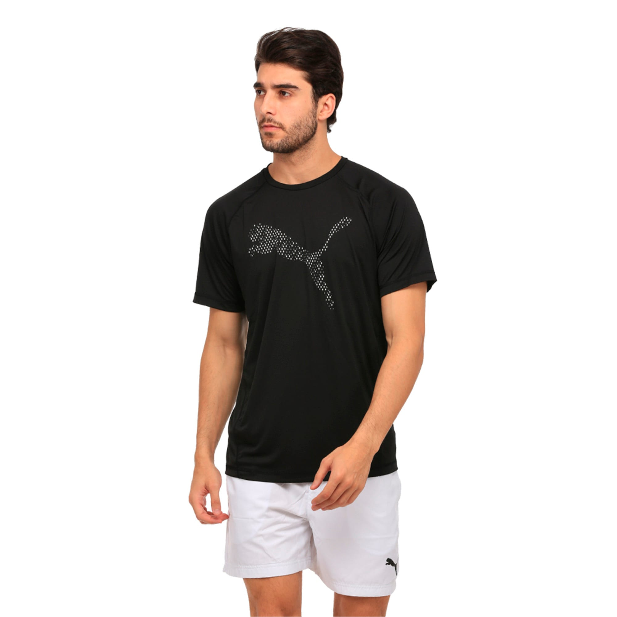 Thumbnail 4 of Active Training Men's Vent Cat T-Shirt, Puma Black, medium-IND