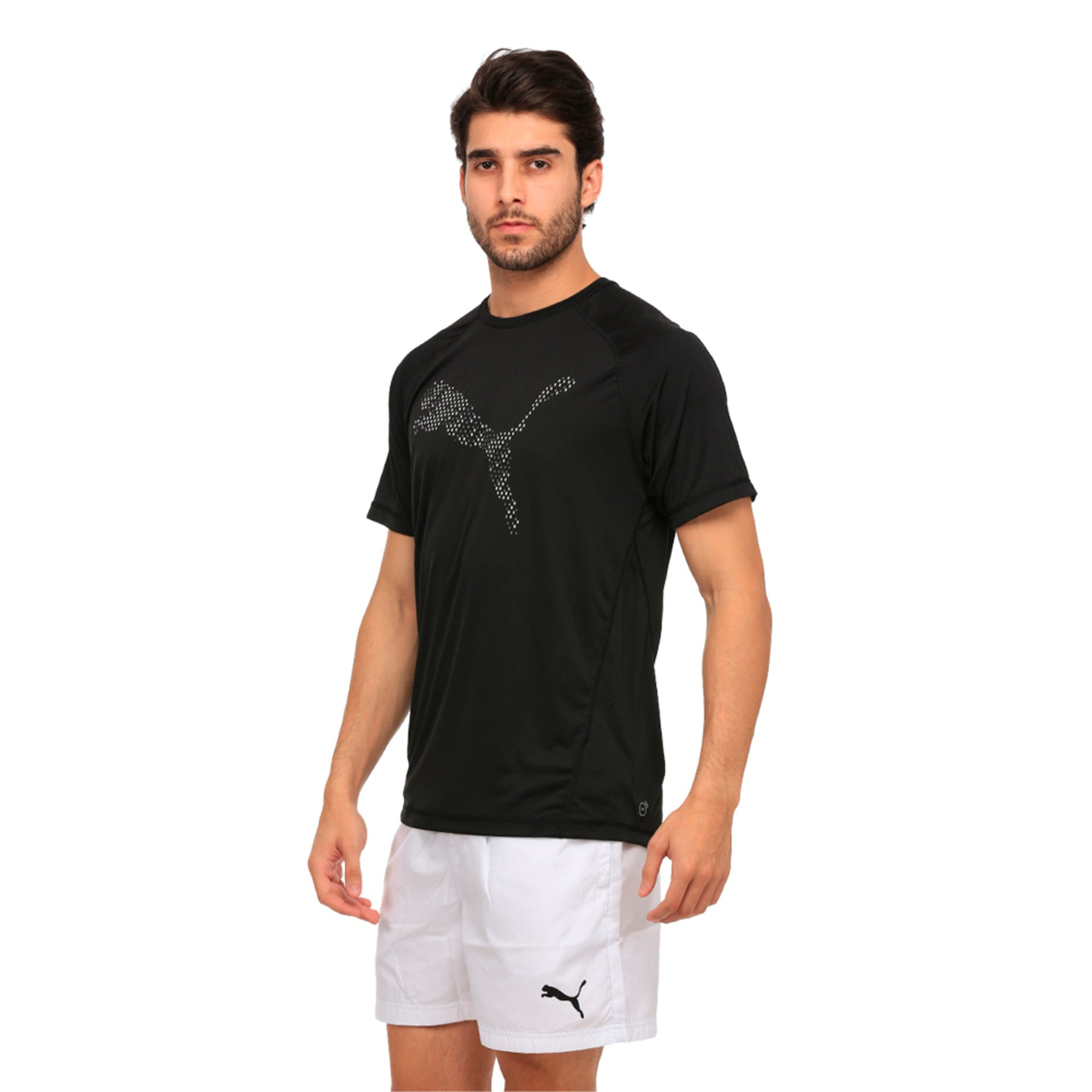 Thumbnail 1 of Active Training Men's Vent Cat T-Shirt, Puma Black, medium-IND